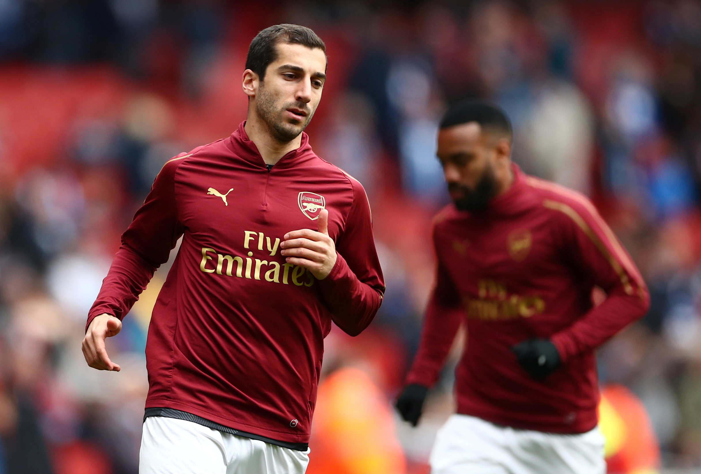 Soccer Football - Premier League - Arsenal v Brighton & Hove Albion - Emirates Stadium, London, Britain - May 5, 2019  Arsenal's Henrikh Mkhitaryan during the warm up before the match   REUTERS/Hannah McKay  EDITORIAL USE ONLY. No use with unauthorized audio, video, data, fixture lists, club/league logos or