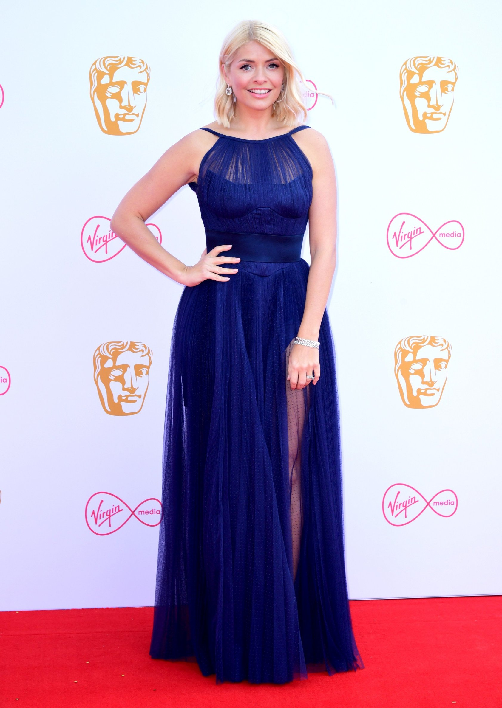Holly Willoughby attending the Virgin Media BAFTA TV awards, held at the Royal Festival Hall in London., Image: 432681012, License: Rights-managed, Restrictions: , Model Release: no, Credit line: Profimedia, Press Association