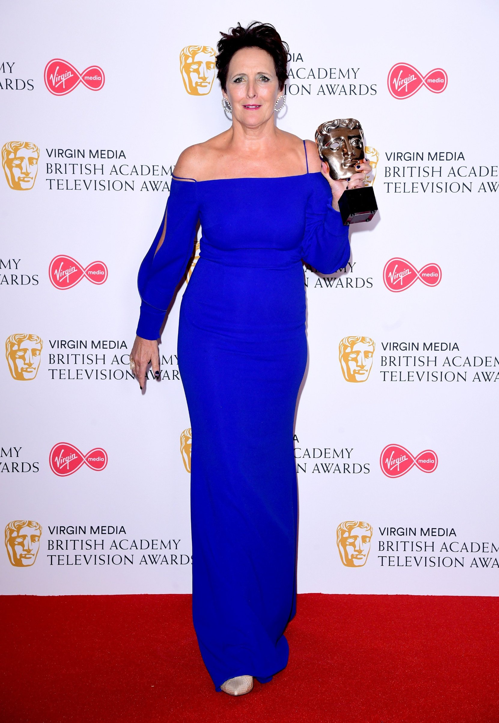 Fiona Shaw in the press room after winning the award for Best Supporting Actress at the Virgin Media BAFTA TV awards, held at the Royal Festival Hall in London., Image: 432691425, License: Rights-managed, Restrictions: , Model Release: no, Credit line: Profimedia, Press Association