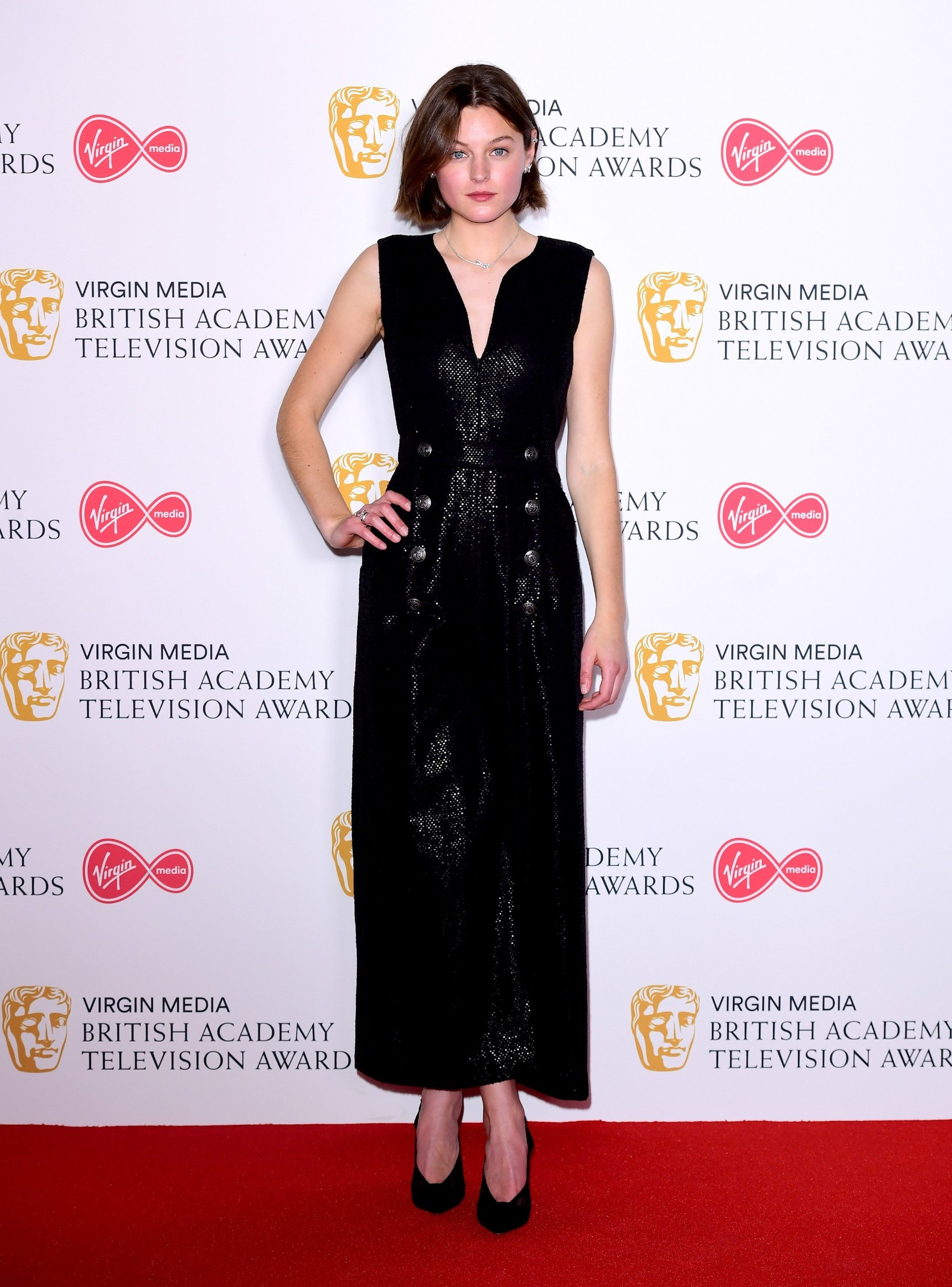 Emma Corin in the press room at the Virgin Media BAFTA TV awards, held at the Royal Festival Hall in London., Image: 432704577, License: Rights-managed, Restrictions: , Model Release: no, Credit line: Profimedia, Press Association