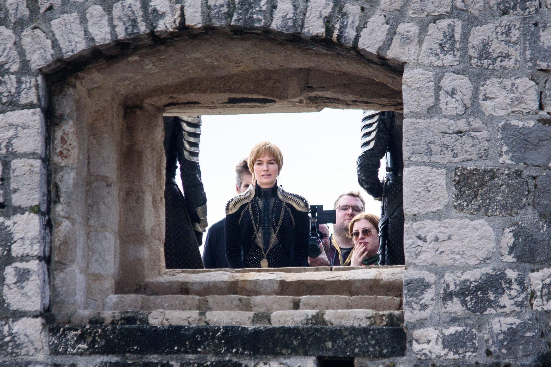 Lena Headey tijekom snimanja serije Game of Thrones u Dubrovniku