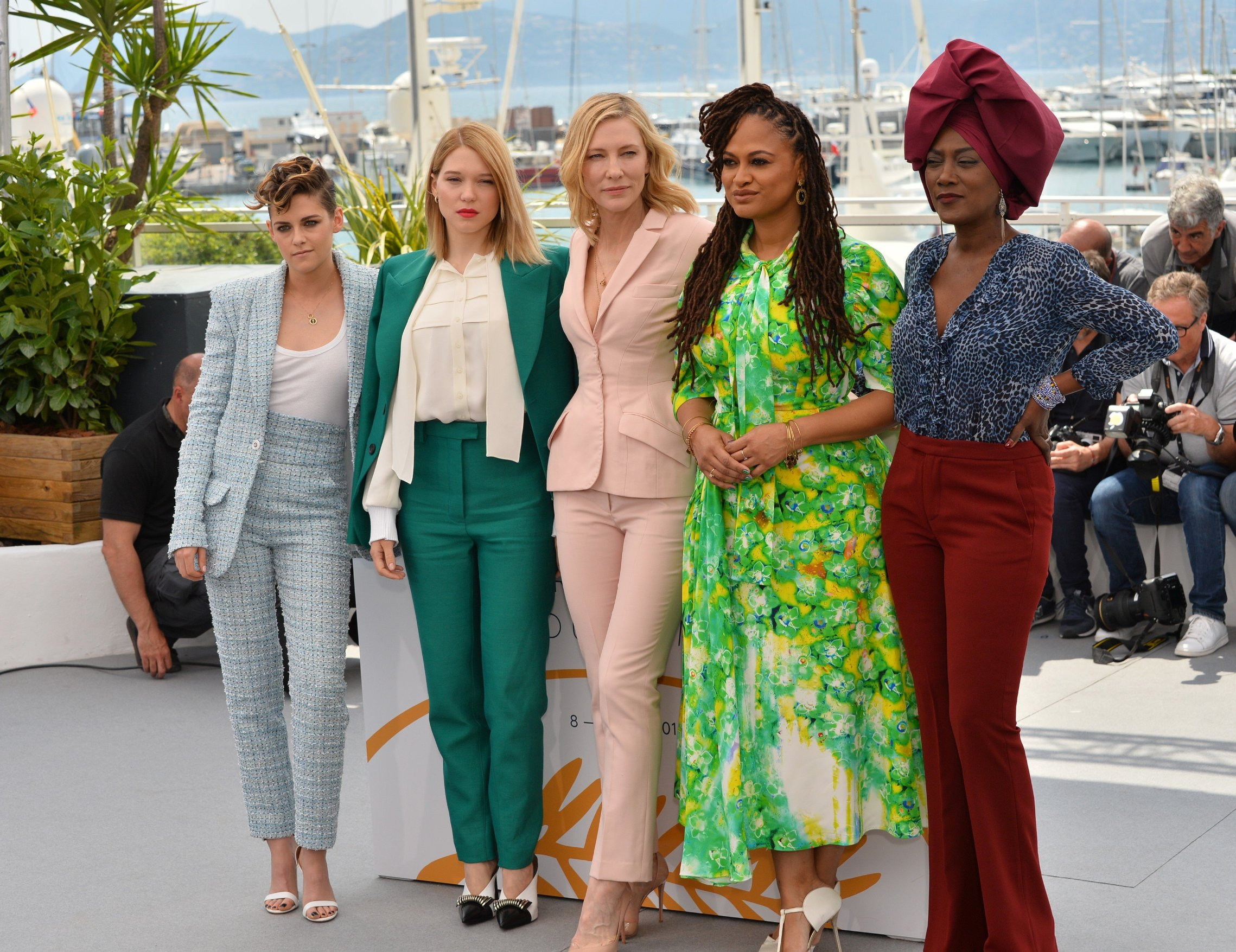 Kristen Stewart, Lea Seydoux, Cate Blanchett, Ava Duvernay & Khadja Nin Cannes Jury Photocall, Cannes Film Festival, France 8 May 2018, Image: 370927947, License: Rights-managed, Restrictions: , Model Release: no, Credit line: Profimedia, TEMP Rex Features