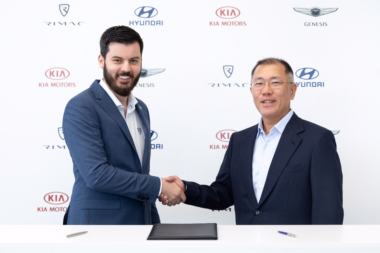 Mate Rimac i izvršni potpredsjednik Hyundai Motor Group Euisun Chung