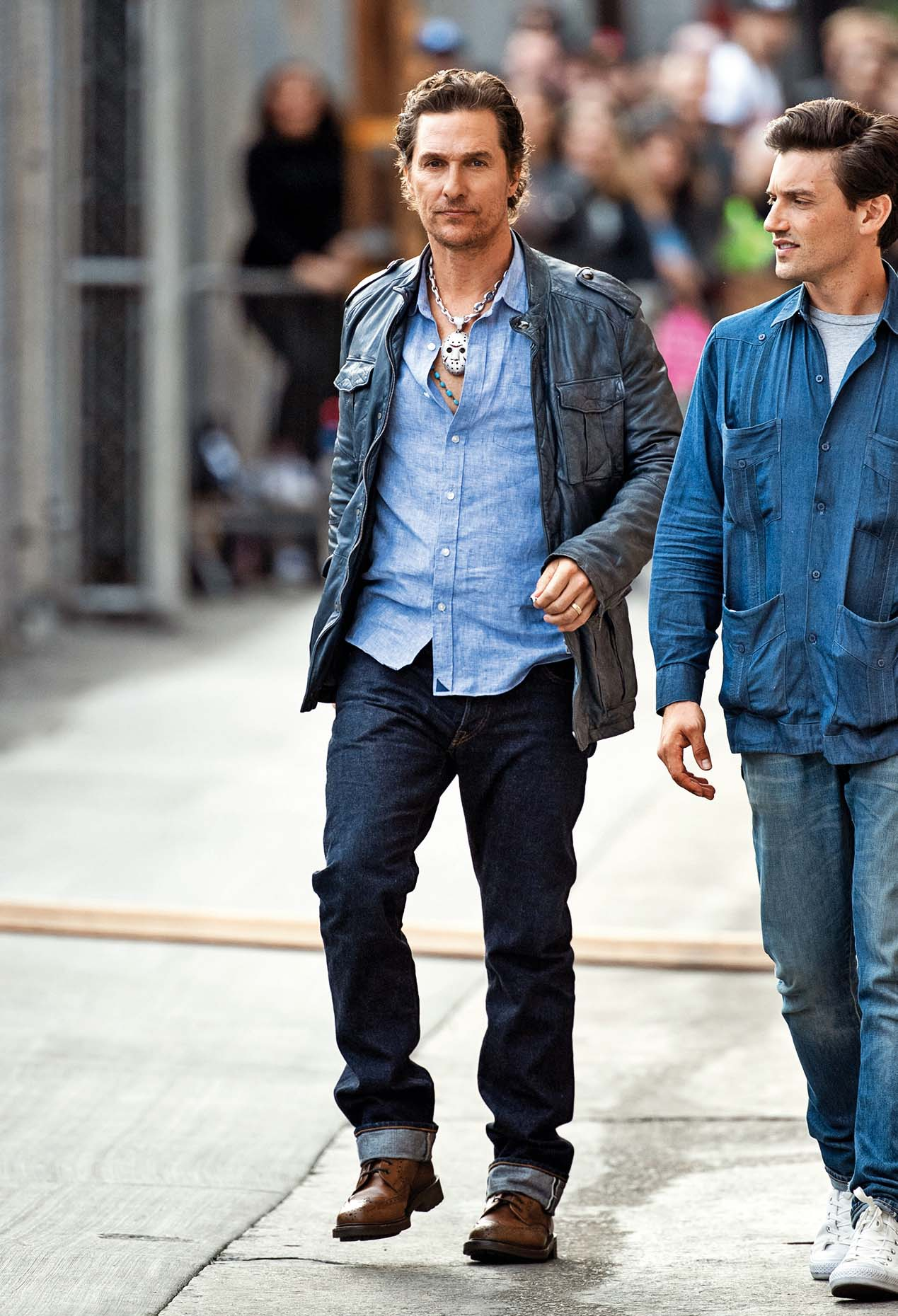 LOS ANGELES, CA - MARCH 27: Matthew McConaughey is seen at 'Jimmy Kimmel Live' on March 27, 2019 in Los Angeles, California.  (Photo by RB/Bauer-Griffin/GC Images)