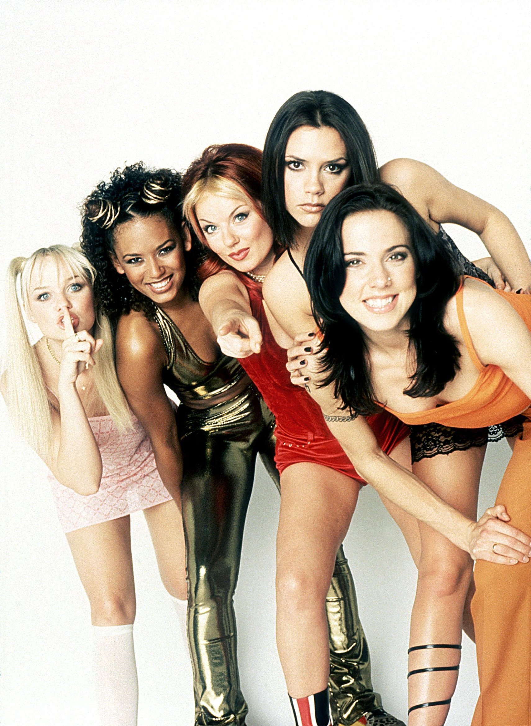 SPICE WORLD, Emma Bunton as Baby Spice, Melanie Brown as Scary Spice, Geri Halliwell as Ginger Spice, Victoria Beckham as Posh Spice, Melanie Chisholm as Sporty Spice, 1997, (c) Columbia/courtesy Everett Collection, Image: 98046133, License: Rights-managed, Restrictions: For usage credit please use; ©Columbia Pictures/Courtesy Everett Collection, Model Release: no, Credit line: Profimedia, Everett