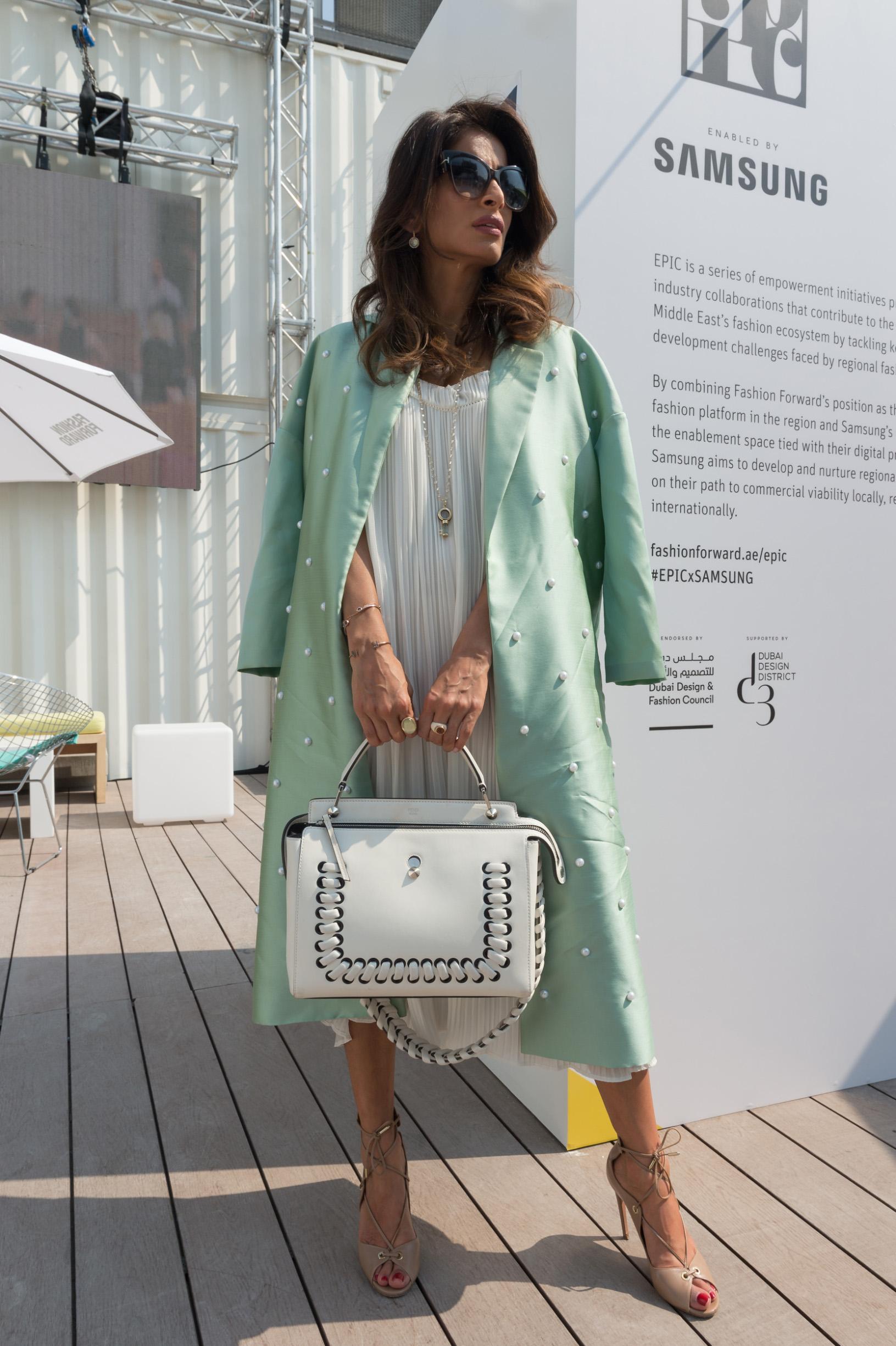 DUBAI, UNITED ARAB EMIRATES - OCTOBER 21:  Managing Director of RR & Co Rosemin Manji attends Fashion Forward Spring/Summer 2017 at the Dubai Design District on October 21, 2016 in Dubai, United Arab Emirates.  (Photo by Cedric Ribeiro/Getty Images)