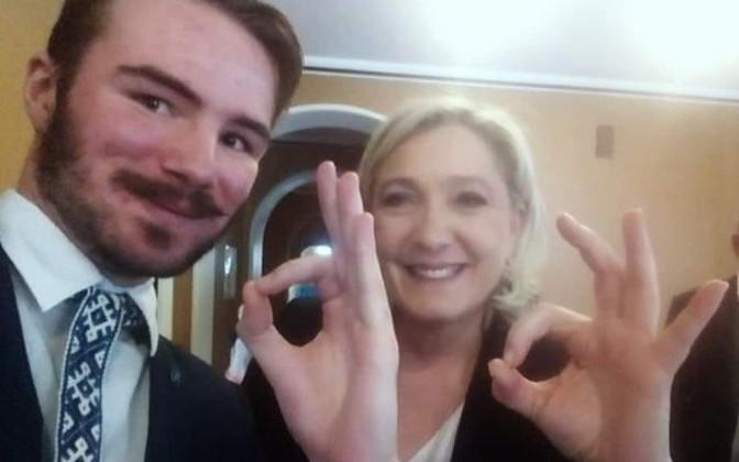 Ultradesni finski političar Ruuben Kaalep i francuska desničarka Marine Le Pen