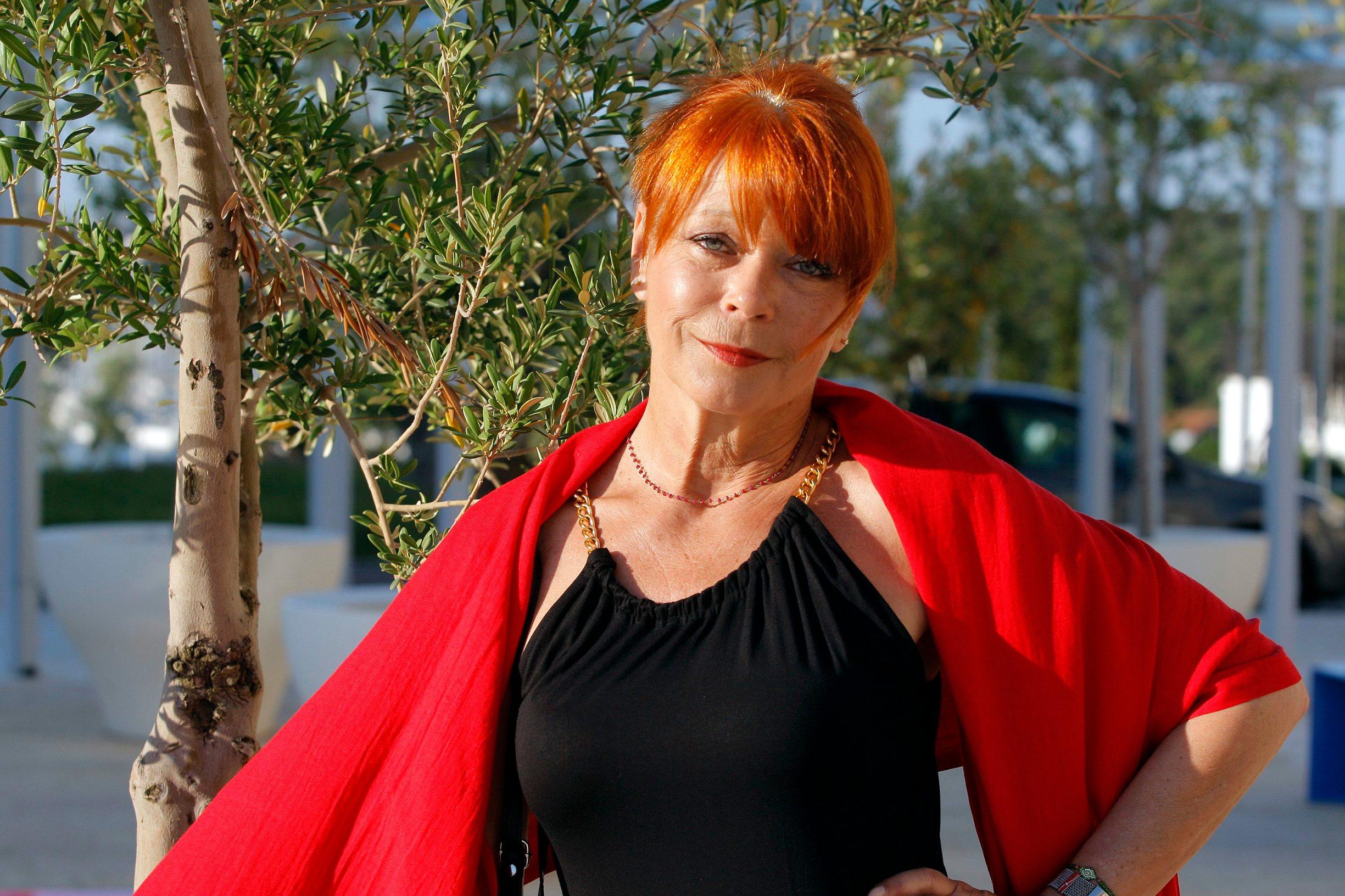 Pula, 170713.    Neda Arneric, glumica. Snimljena na terasi ispred hotela Histria. Foto: Goran Sebelic / CROPIX