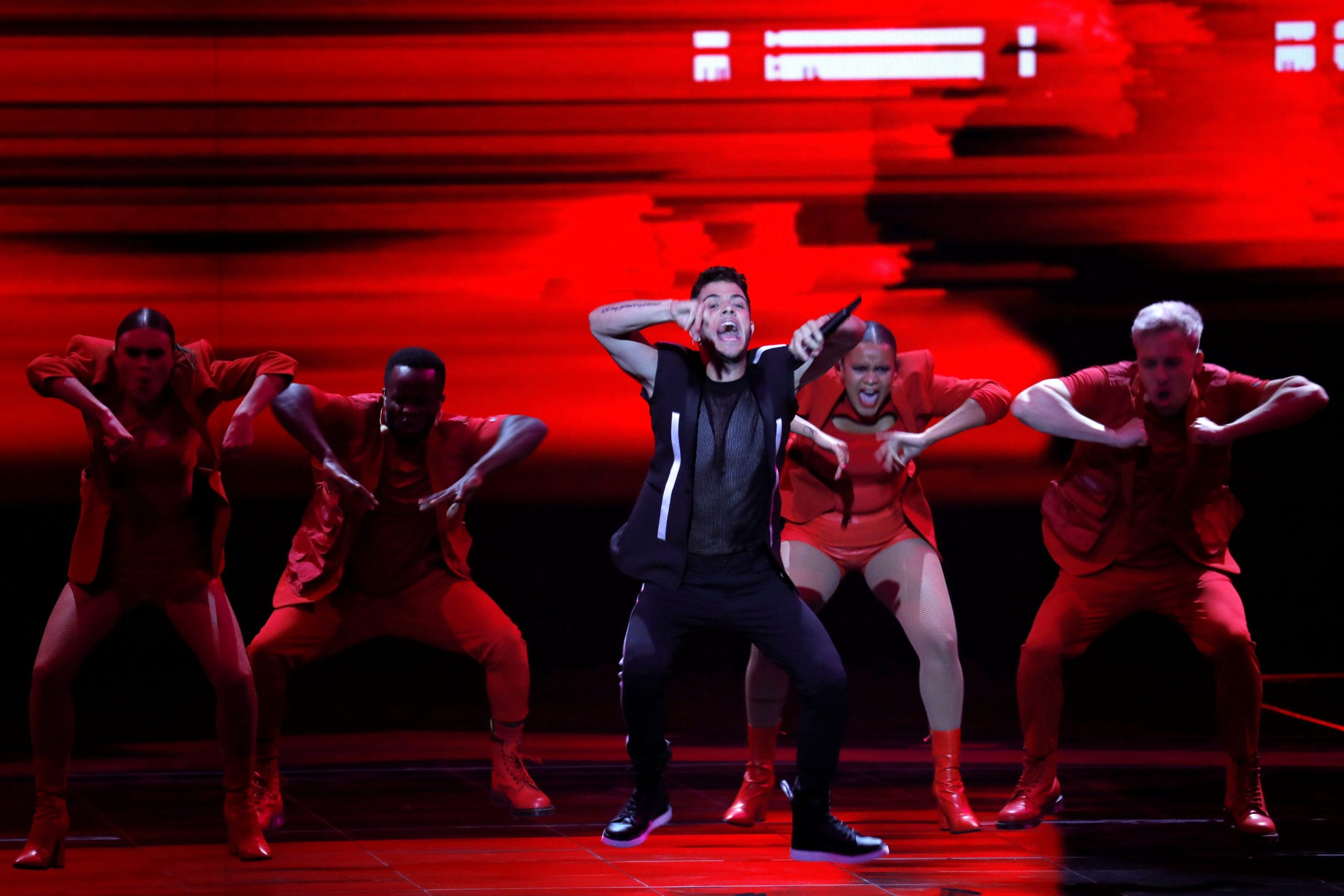 Participant Luca Hanni of Switzerland performs during second semi-final of 2019 Eurovision Song Contest in Tel Aviv, Israel May 16, 2019. REUTERS/Amir Cohen