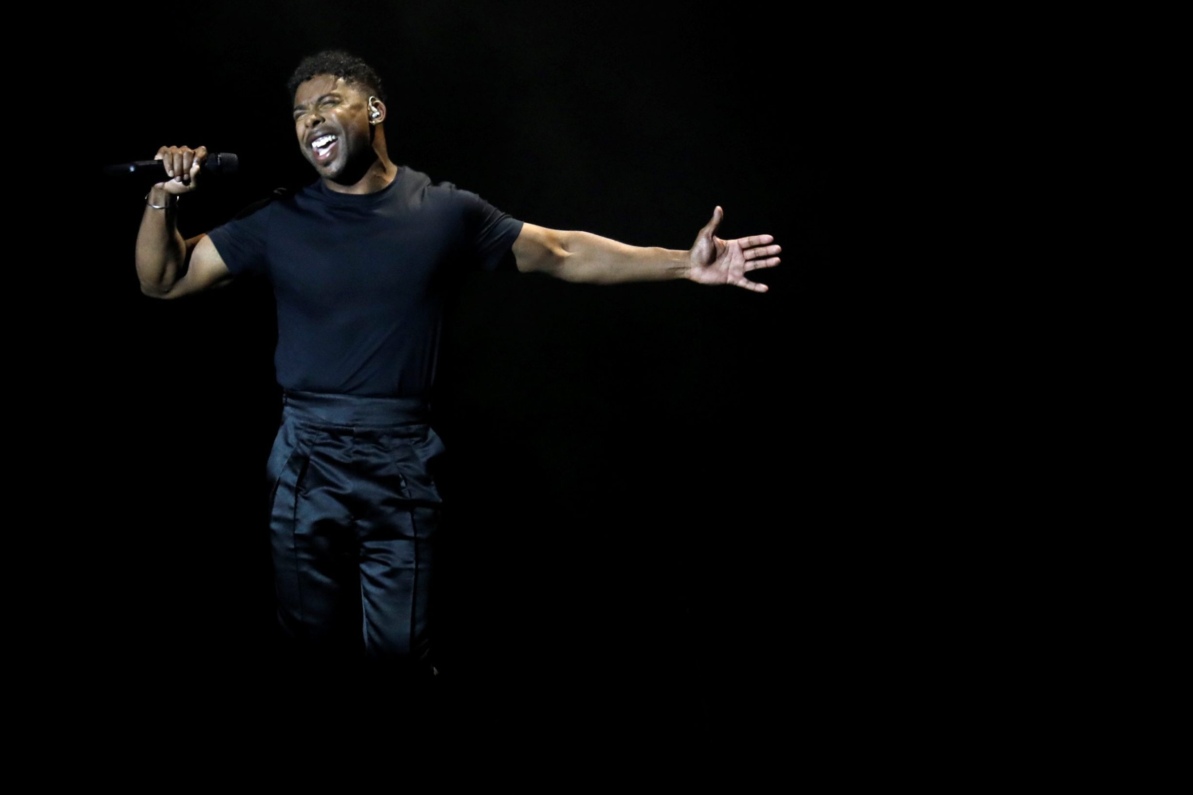 Participant John Lundvik of Sweden performs during second semi-final of 2019 Eurovision Song Contest in Tel Aviv, Israel May 16, 2019. REUTERS/ Amir Cohen