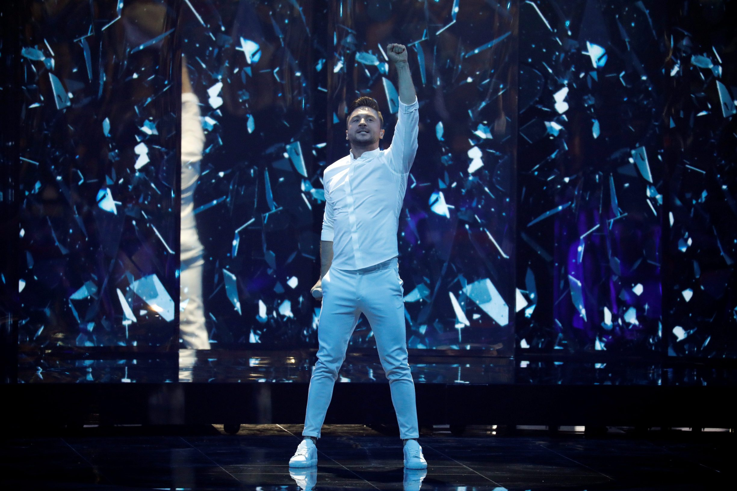 Participant Sergey Lazarev of Russia performs during second semi-final of 2019 Eurovision Song Contest in Tel Aviv, Israel May 16, 2019. REUTERS/ Amir Cohen