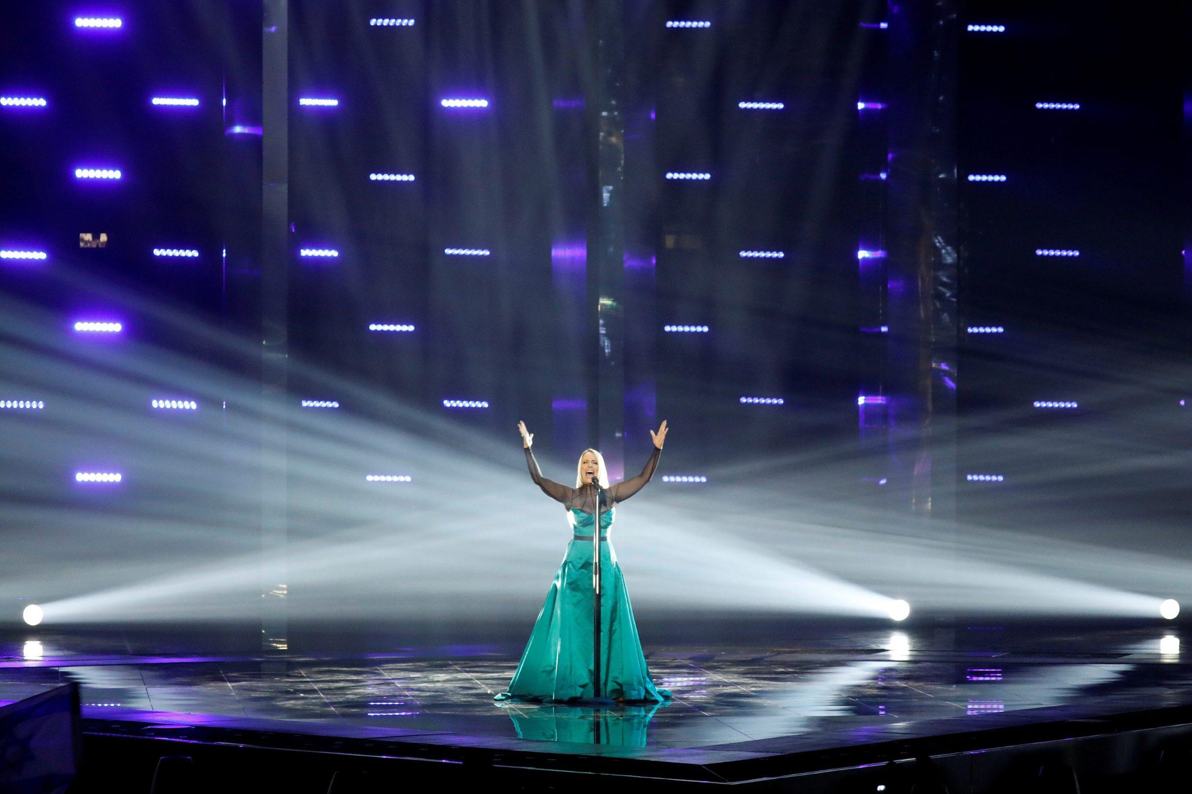 Participant Tamara Todevska of North Macedonia performs during second semi-final of 2019 Eurovision Song Contest in Tel Aviv, Israel May 16, 2019. REUTERS/ Amir Cohen