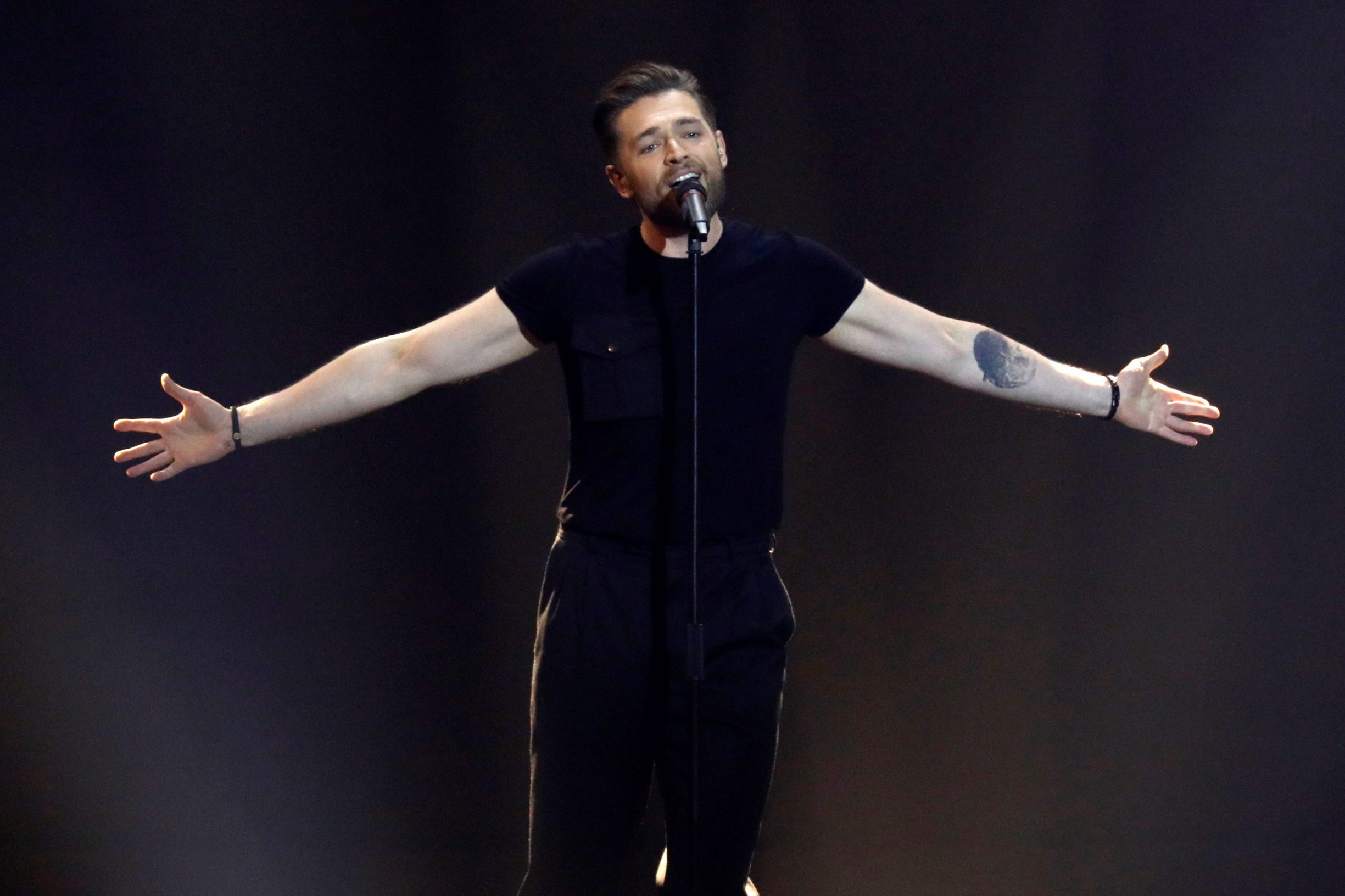 Participant Jurij Veklenko of Lithuania performs during second semi-final of 2019 Eurovision Song Contest in Tel Aviv, Israel May 16, 2019. REUTERS/ Amir Cohen