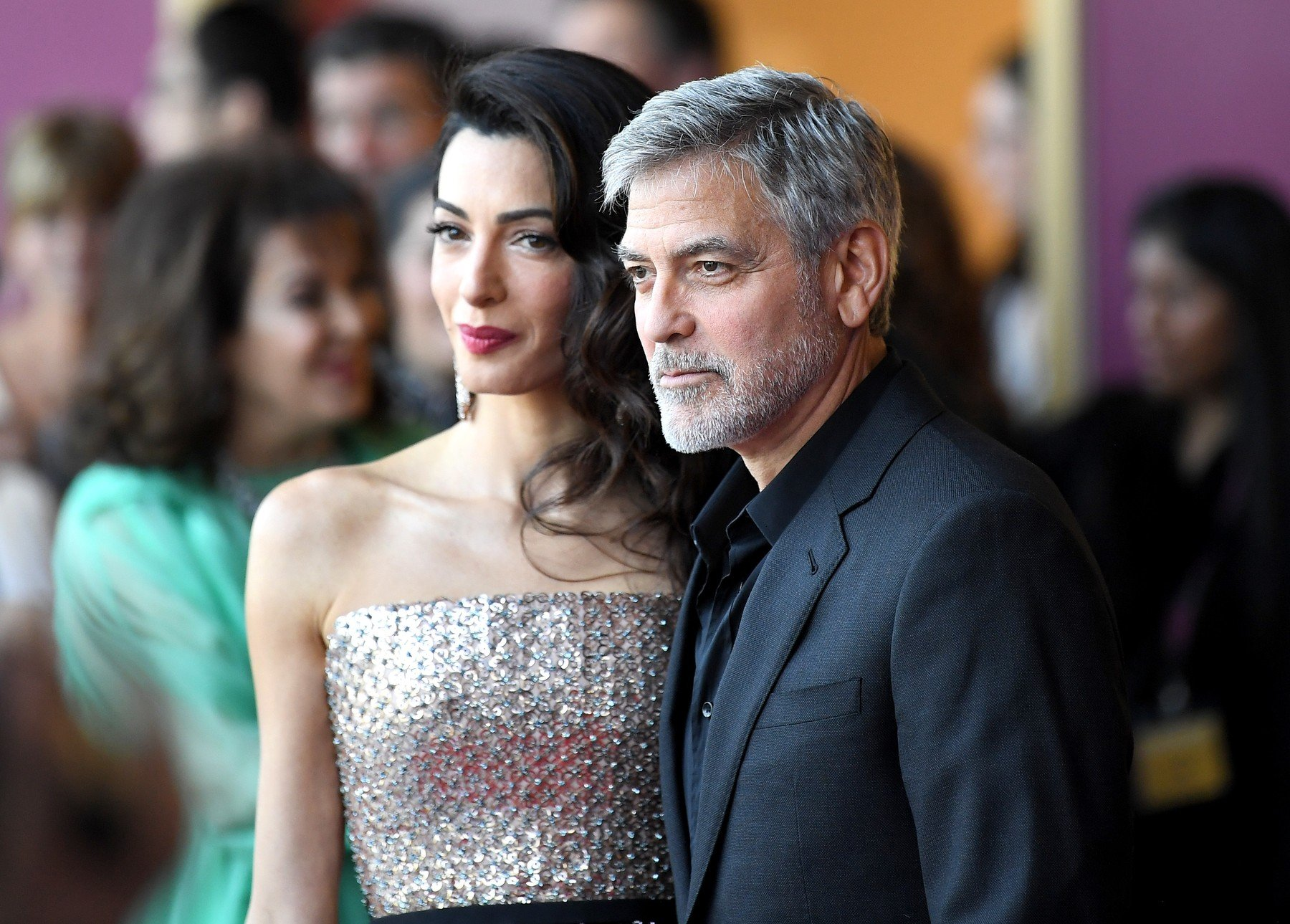 Amal Clooney and George Clooney 'Catch-22' TV show premiere, London, UK - 15 May 2019, Image: 433476038, License: Rights-managed, Restrictions: , Model Release: no, Credit line: Profimedia, TEMP Rex Features