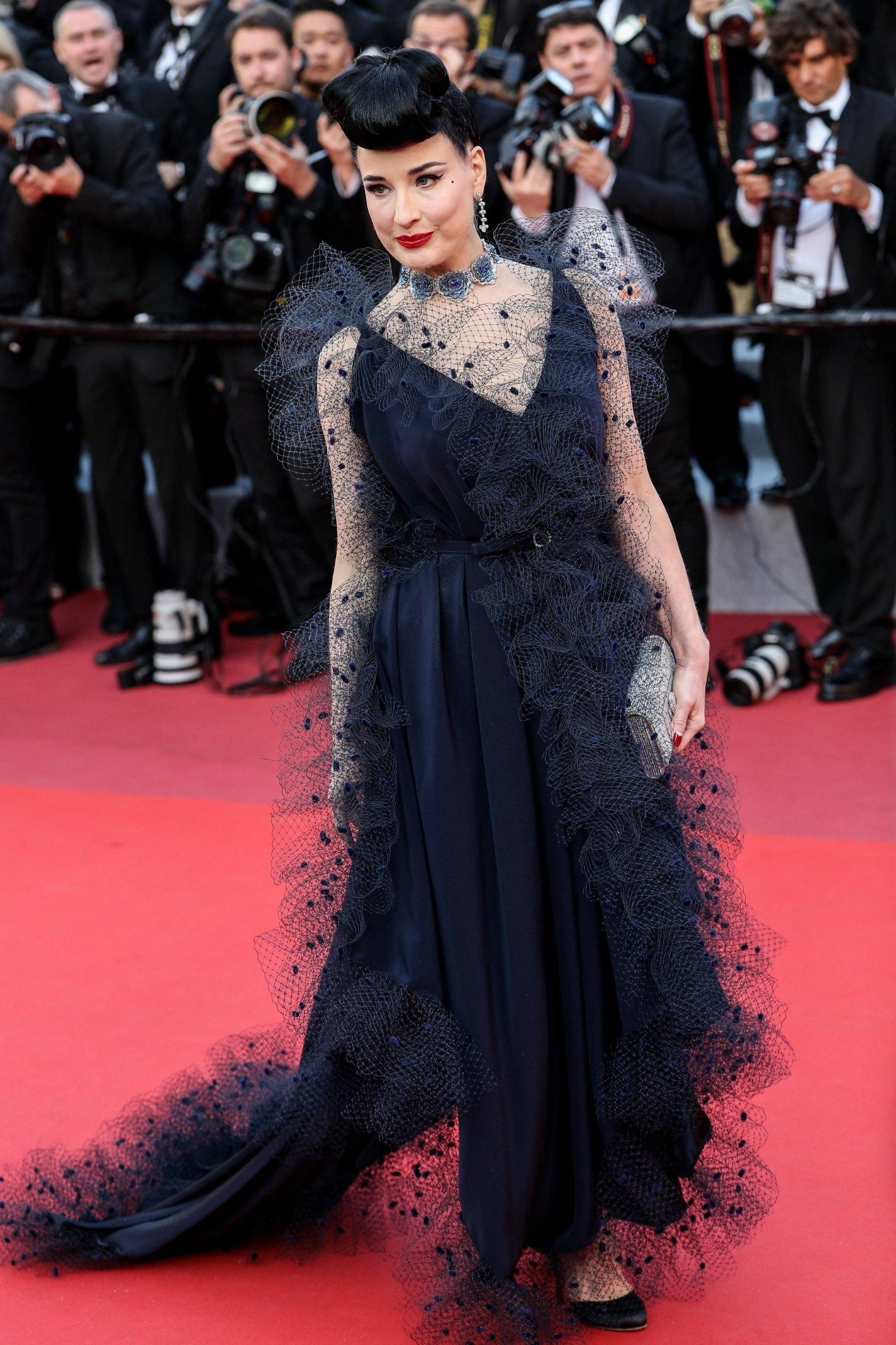 Cannes, FRANCE  - Elton John, Taron Egerton, David Furnish and cast arrives to the premiere of
