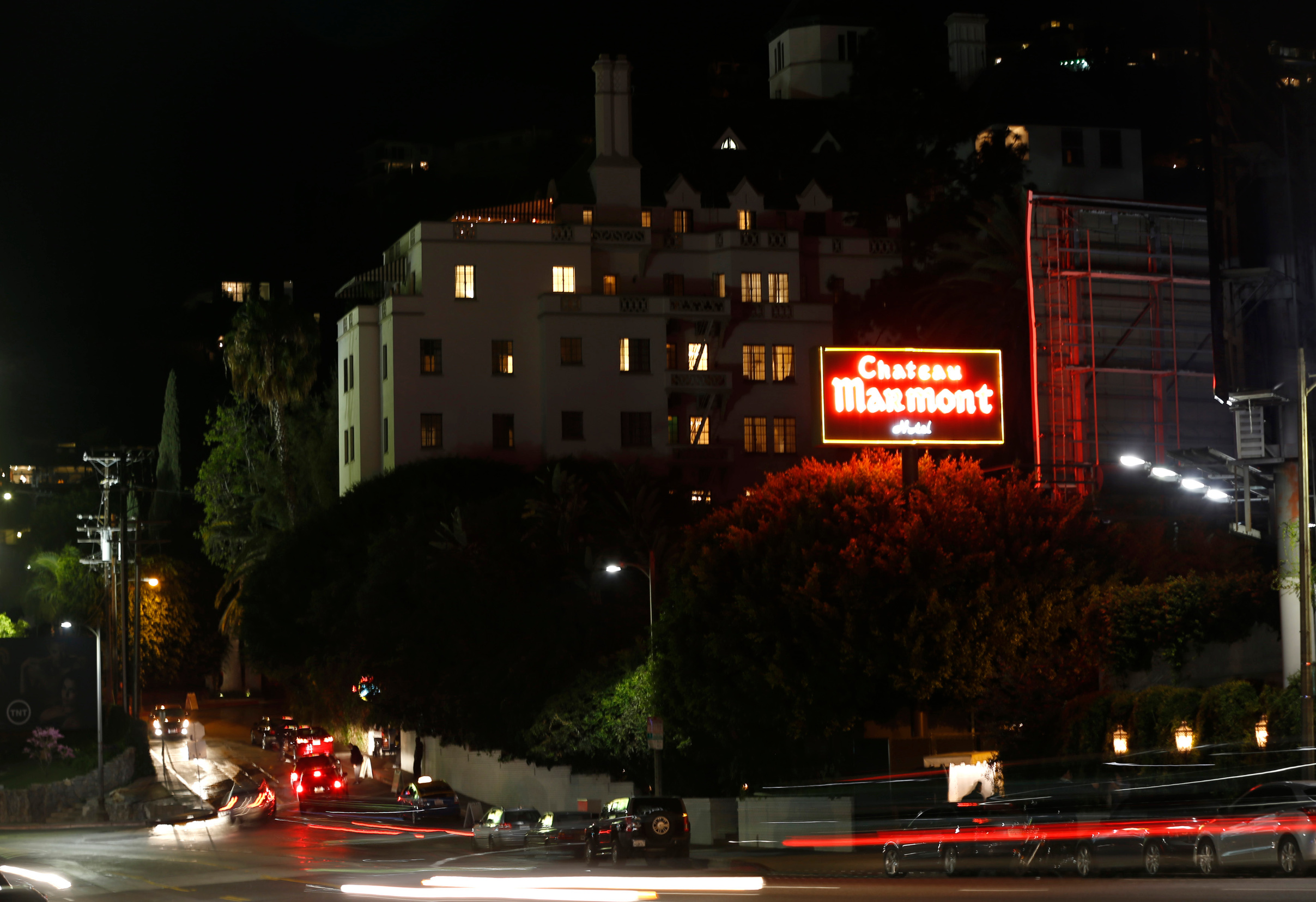 The Chateau Marmont Hotel is pictured in West Hollywood, California February 20, 2014. If walls could talk, the gothic-style Chateau Marmont hotel at 8221 Sunset Boulevard would have the most enticing stories. It is still one of the top destinations for stars to escape the cameras and find privacy in many of the dark nooks. Picture taken February 20, 2014.  REUTERS/Mario Anzuoni  (UNITED STATES - Tags: ENTERTAINMENT TRAVEL SOCIETY) - GM1EA2L1U1T01