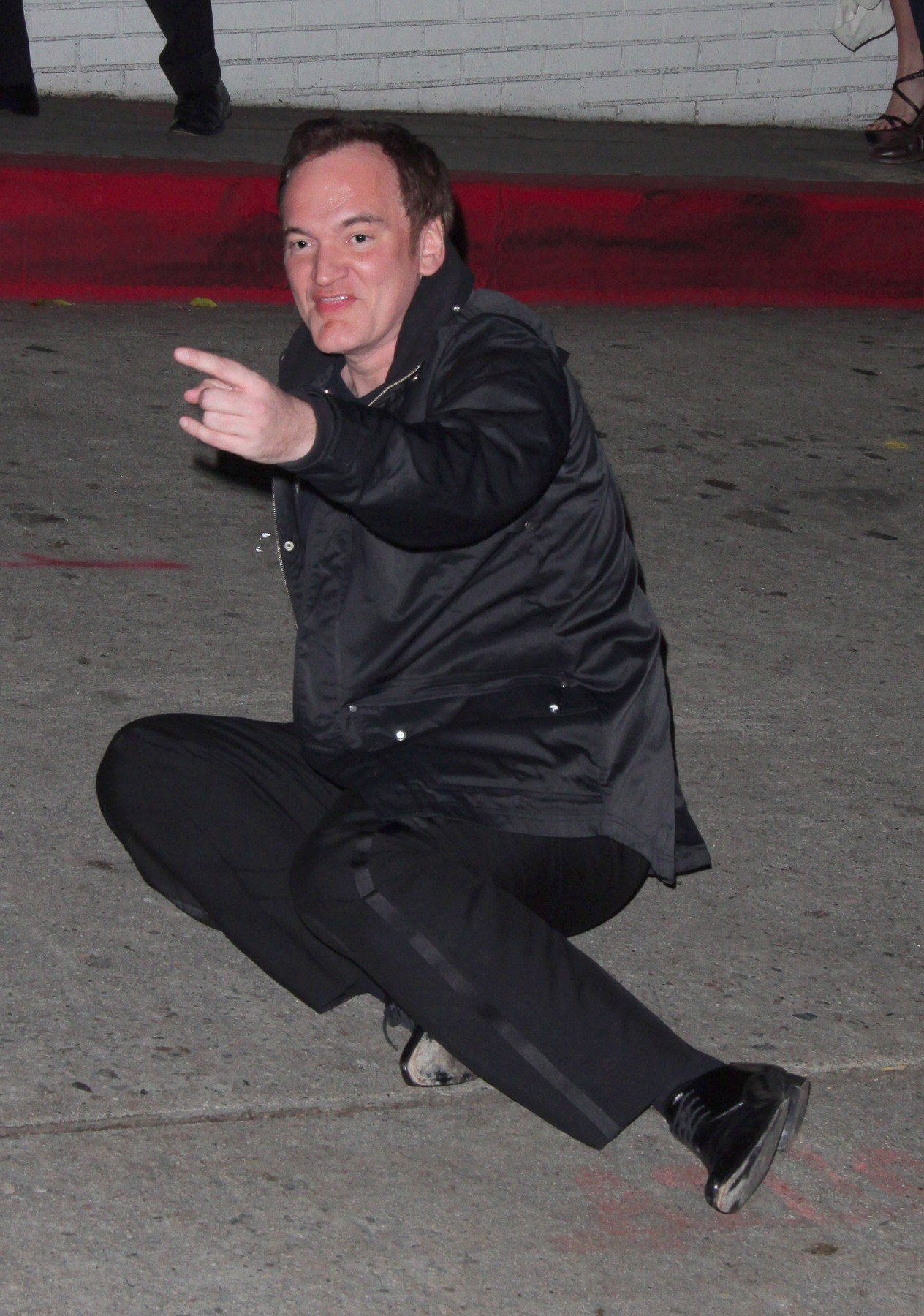 51719, LOS ANGELES, CALIFORNIA -  Sunday February 27 2011. Quentin Tarantino and Paz de la Huerta leave Chateau Marmont together.  As Quentin  walked to the car door he slipped and fell down to the ground in the same spot Paz de la Huerta fell a few weeks earlier ., Image: 90937588, License: Rights-managed, Restrictions: , Model Release: no, Credit line: Profimedia, Pacific coast news