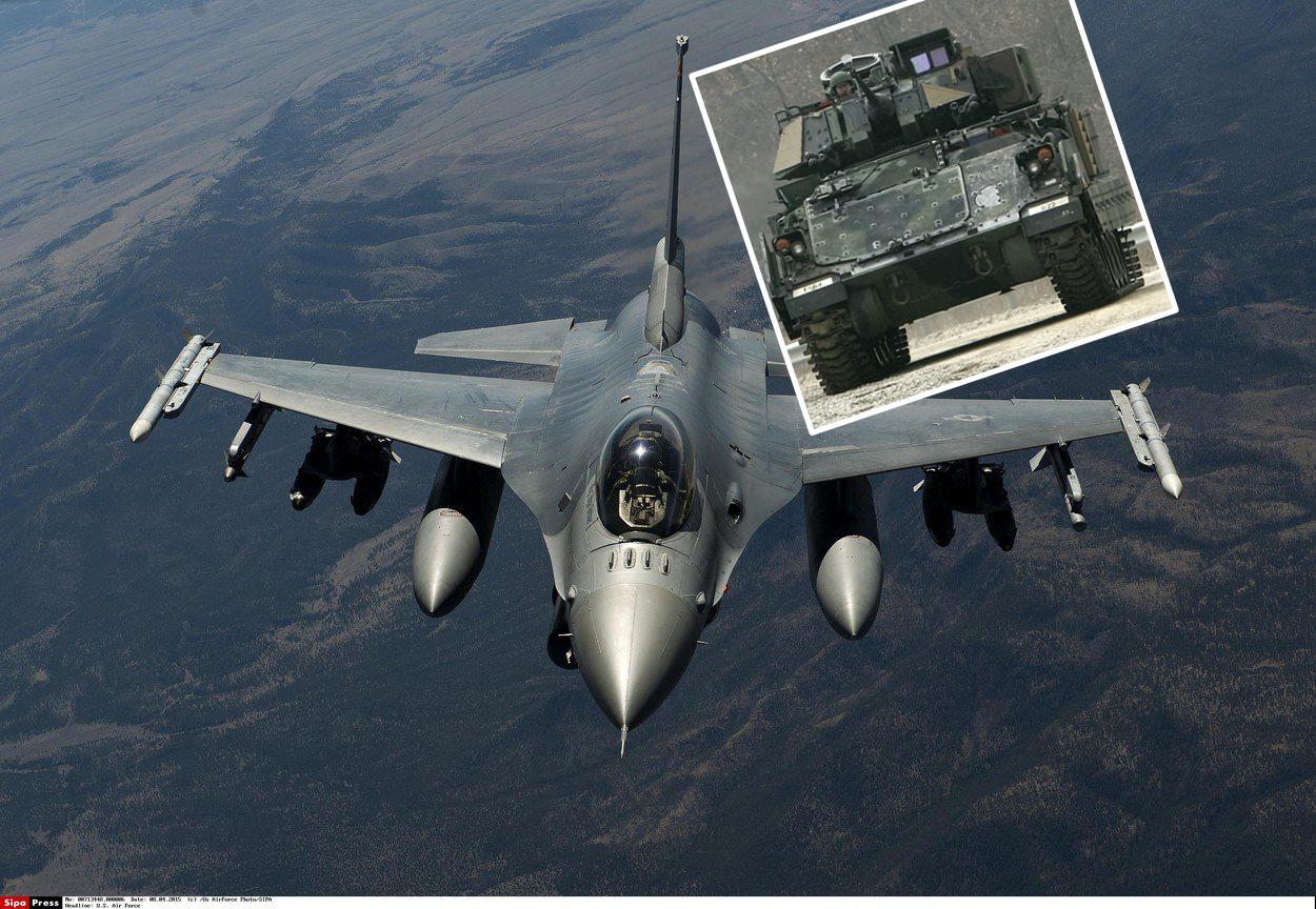 F-16 Fighting Falcon i borbeno vozilo Bradley