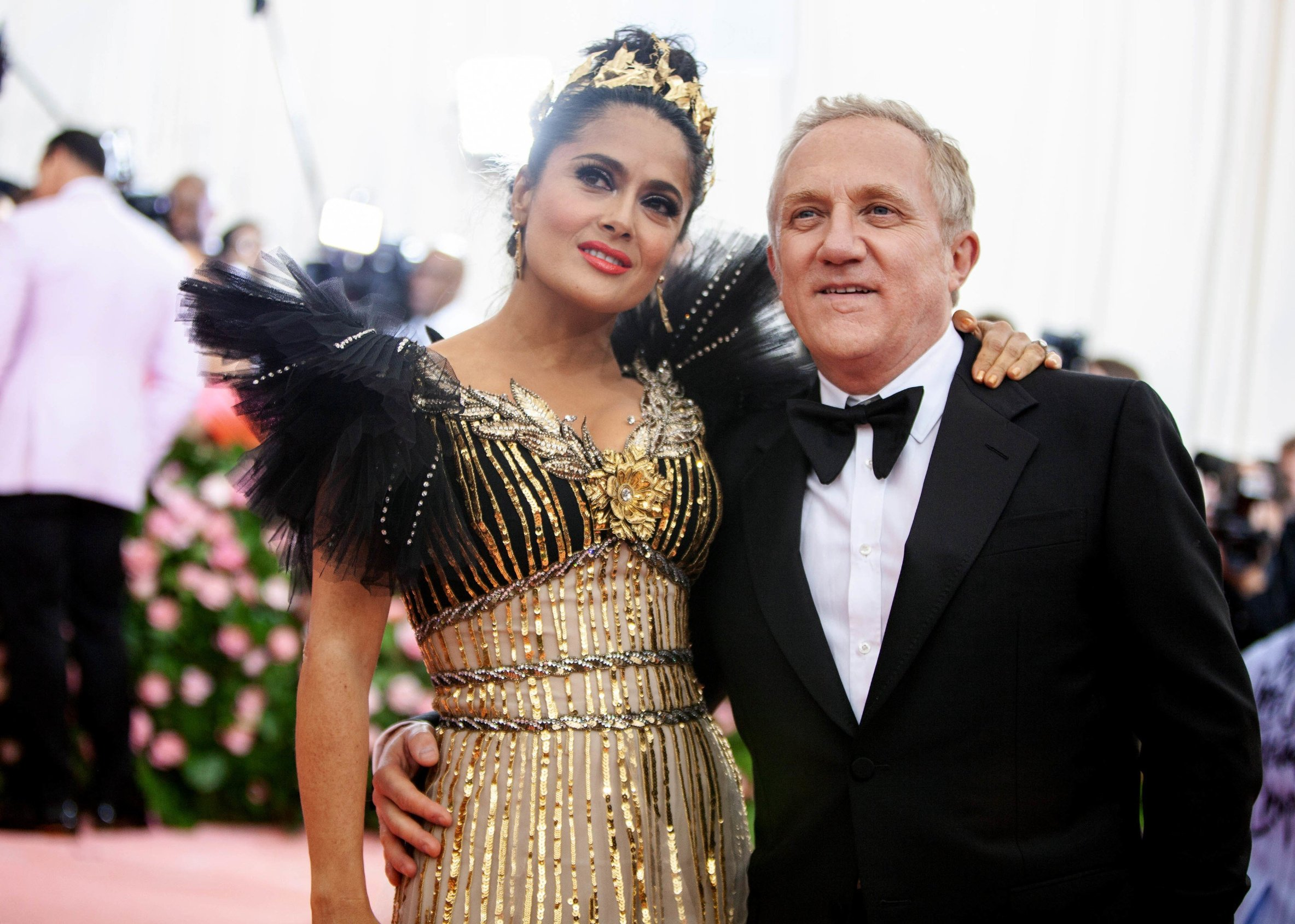 Salma Hayek and Francois-Henri Pinault Costume Institute Benefit celebrating the opening of Camp: Notes on Fashion, Arrivals, The Metropolitan Museum of Art, New York, USA - 06 May 2019, Image: 431328955, License: Rights-managed, Restrictions: , Model Release: no, Credit line: Profimedia, TEMP Rex Features