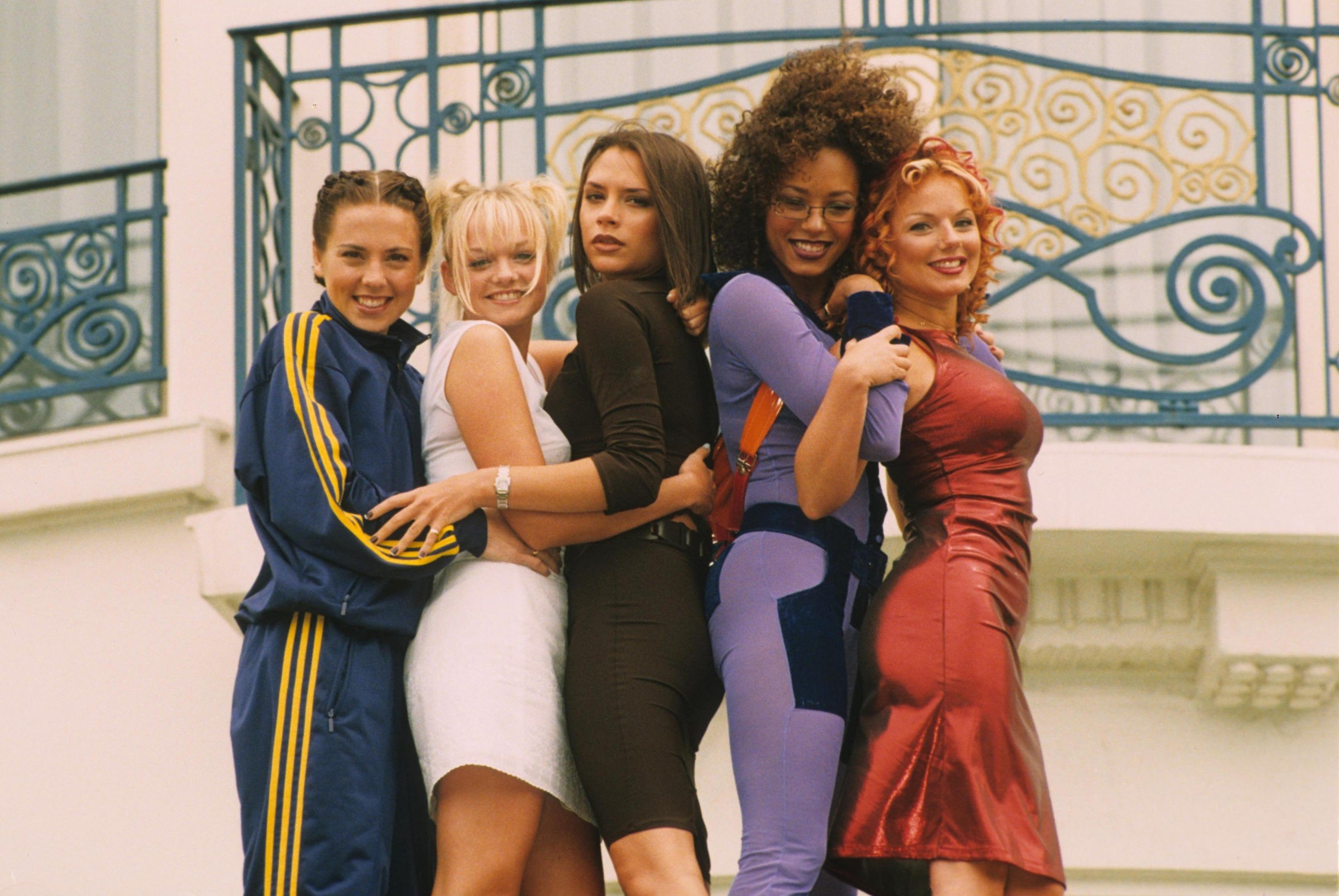 SPICE GIRLS at the Cannes Film Festival Cannes France 1997.Melanie Chisholm, Victoria Beckham, Geri Halliwell, Melanie Brown and Emma Bunton., Image: 246156154, License: Rights-managed, Restrictions: , Model Release: no, Credit line: Profimedia, Zuma Press - Archives
