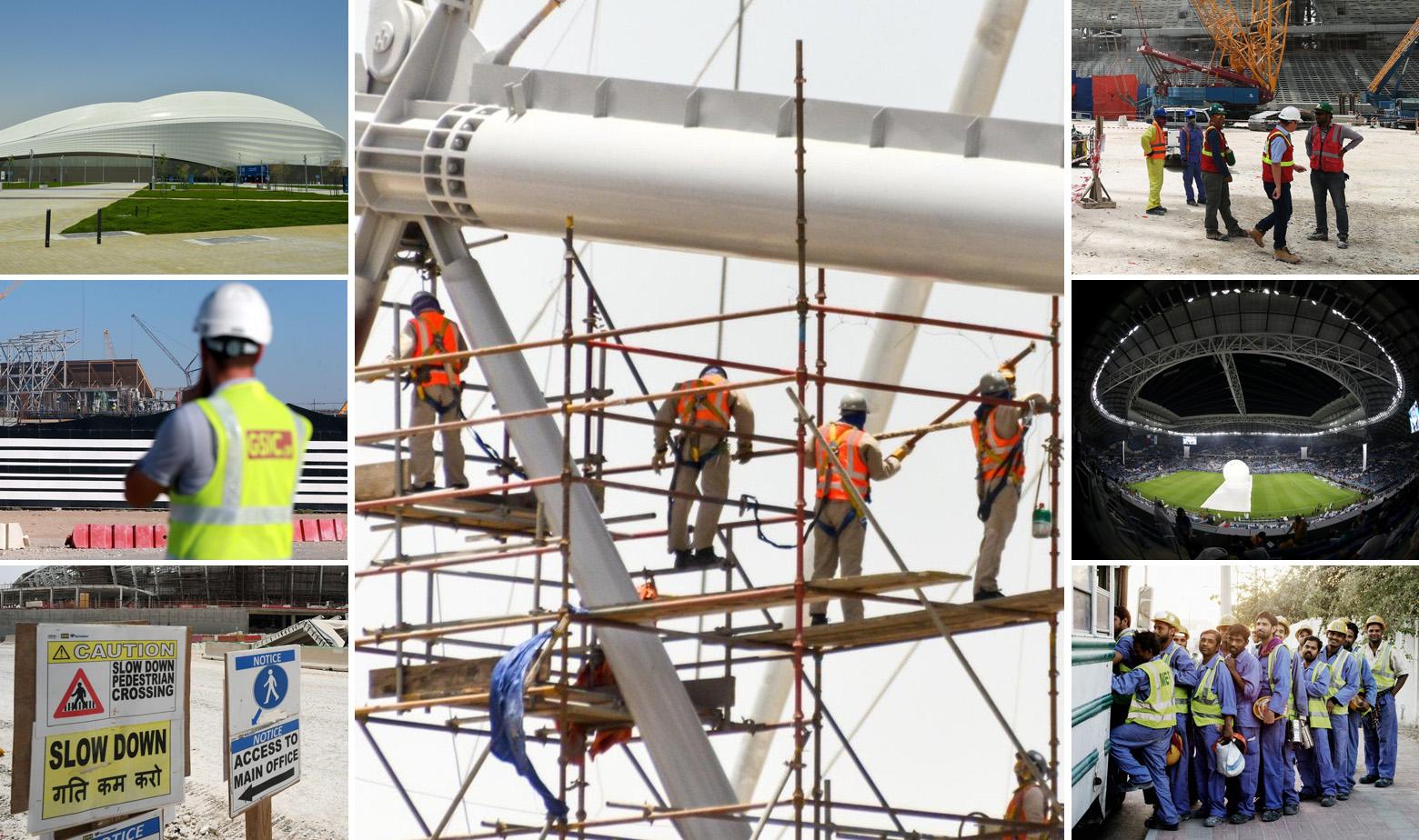 Al Wakrah stadion i radnici na gradilištima raznih projekata u Kataru