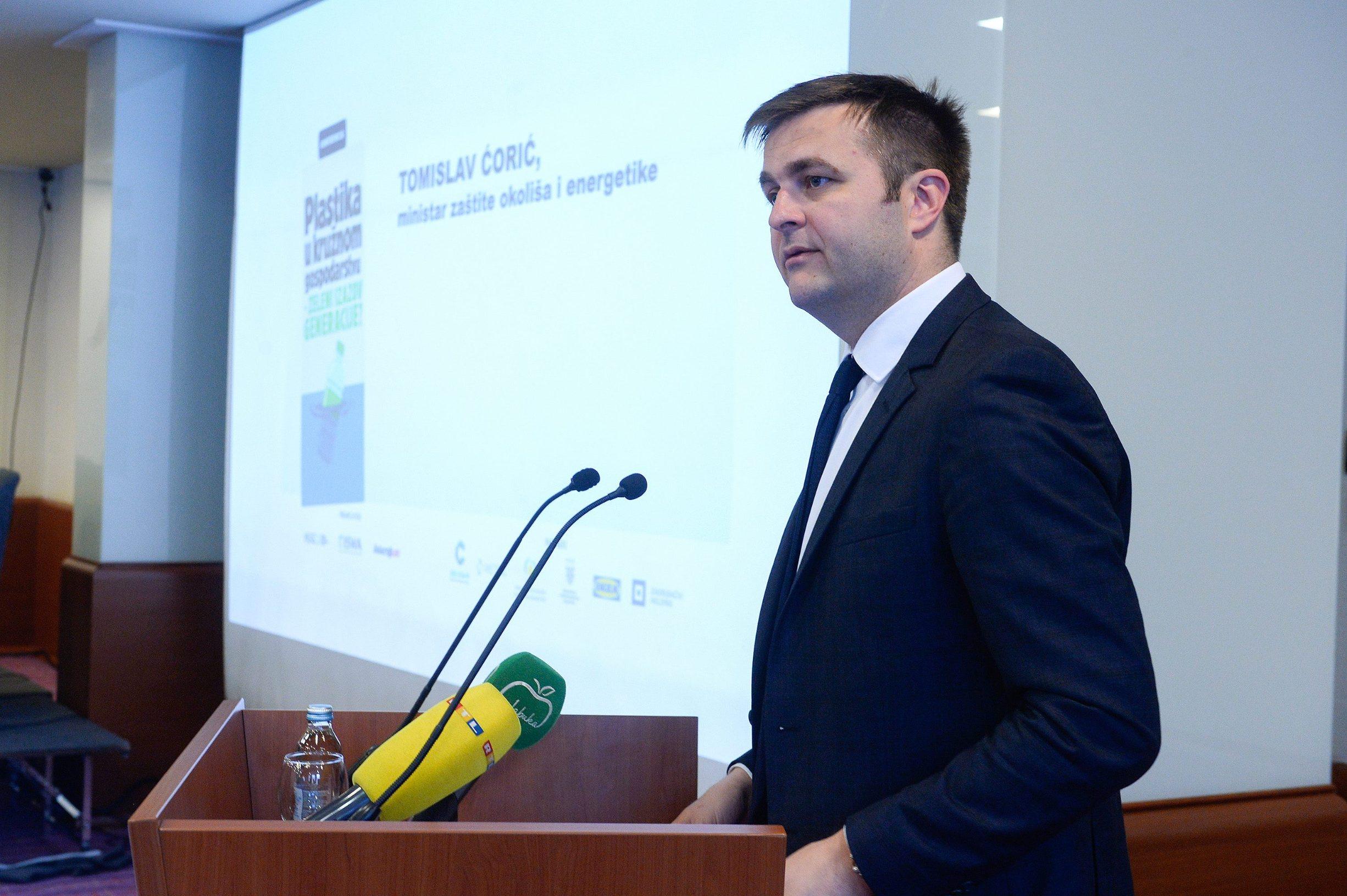 Tomislav Ćorić, ministar zastite okolisa i energetike