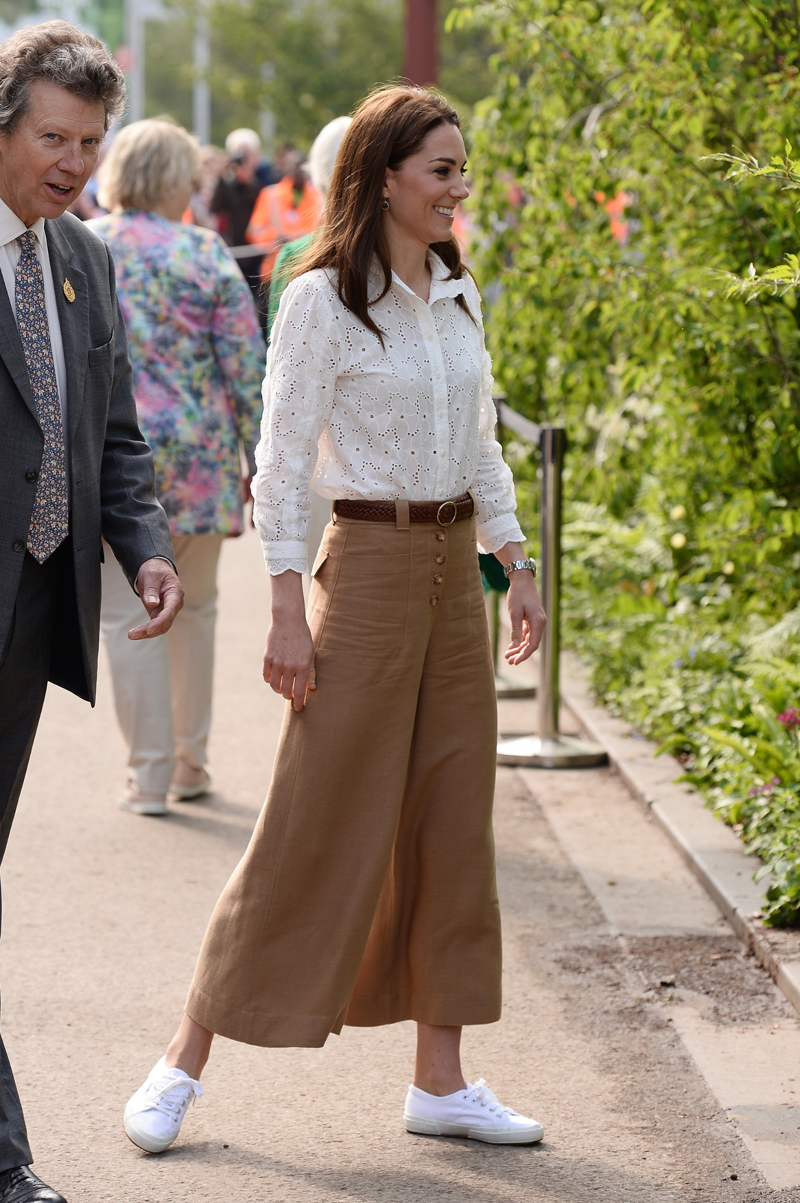 LONDON, ENGLAND - MAY 20: Catherine, Duchess of Cambridge attends the RHS Chelsea Flower Show 2019 press day at Chelsea Flower Show on May 20, 2019 in London, England. (Photo by Jeff Spicer/Getty Images)