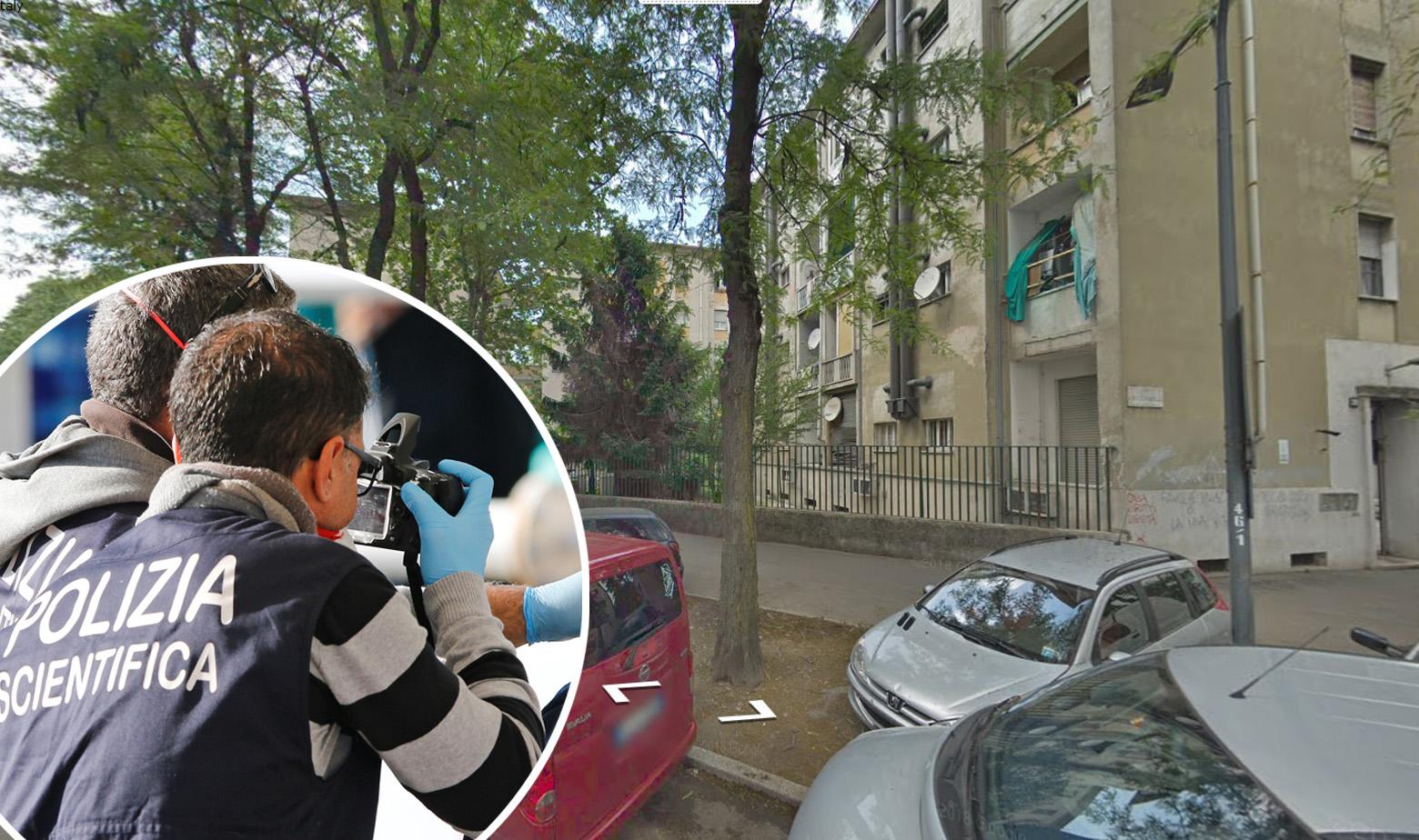 Adresa Ricciarelli 22 u Milanu i ilustracija policije
