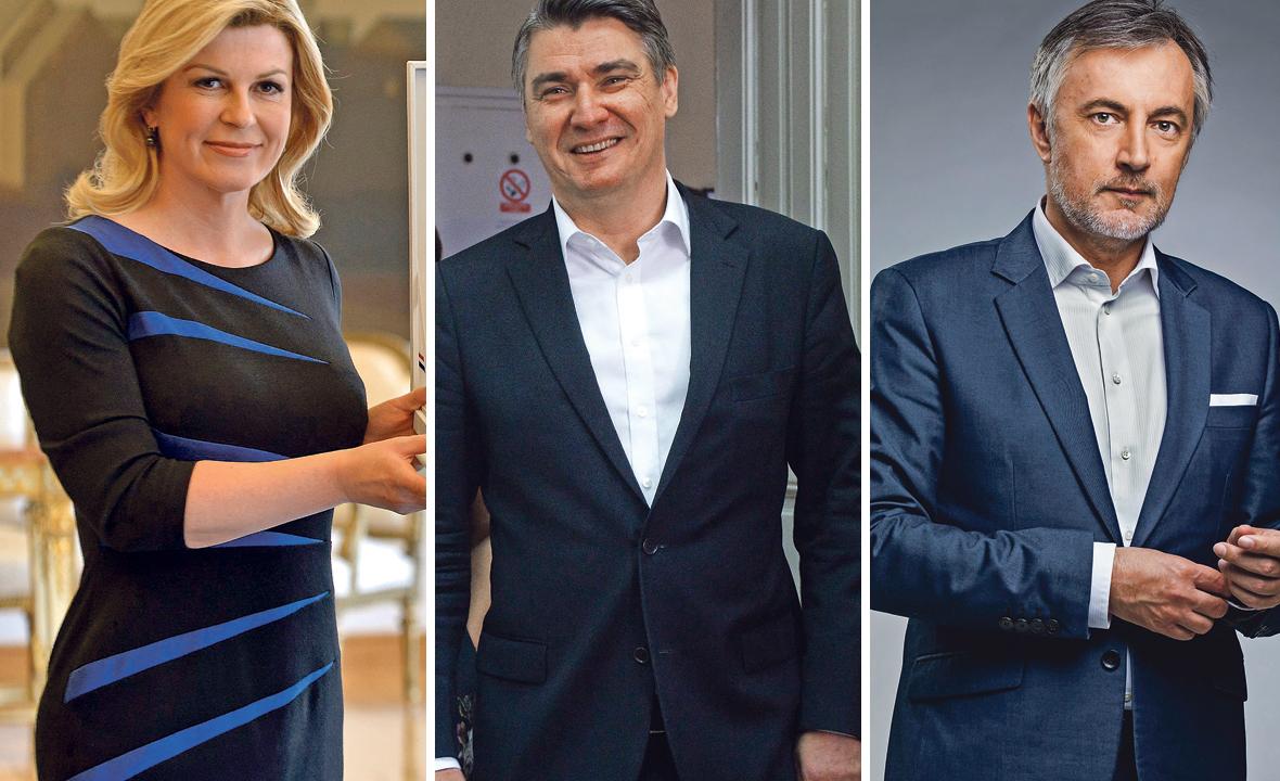 Kolinda Grabar Kitarović, Zoran Milanović i Miroslav Škoro