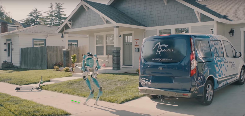 Robot Digit koji dostavlja pakete na kućni prag
