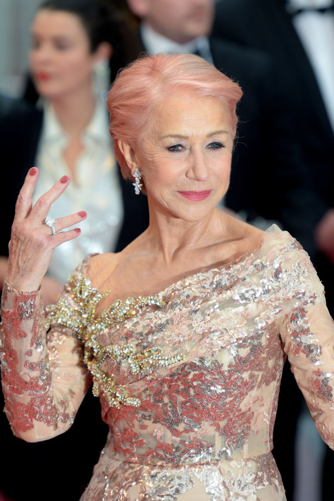 CANNES, FRANCE - MAY 18: Dame Helen Mirren attends the screening of