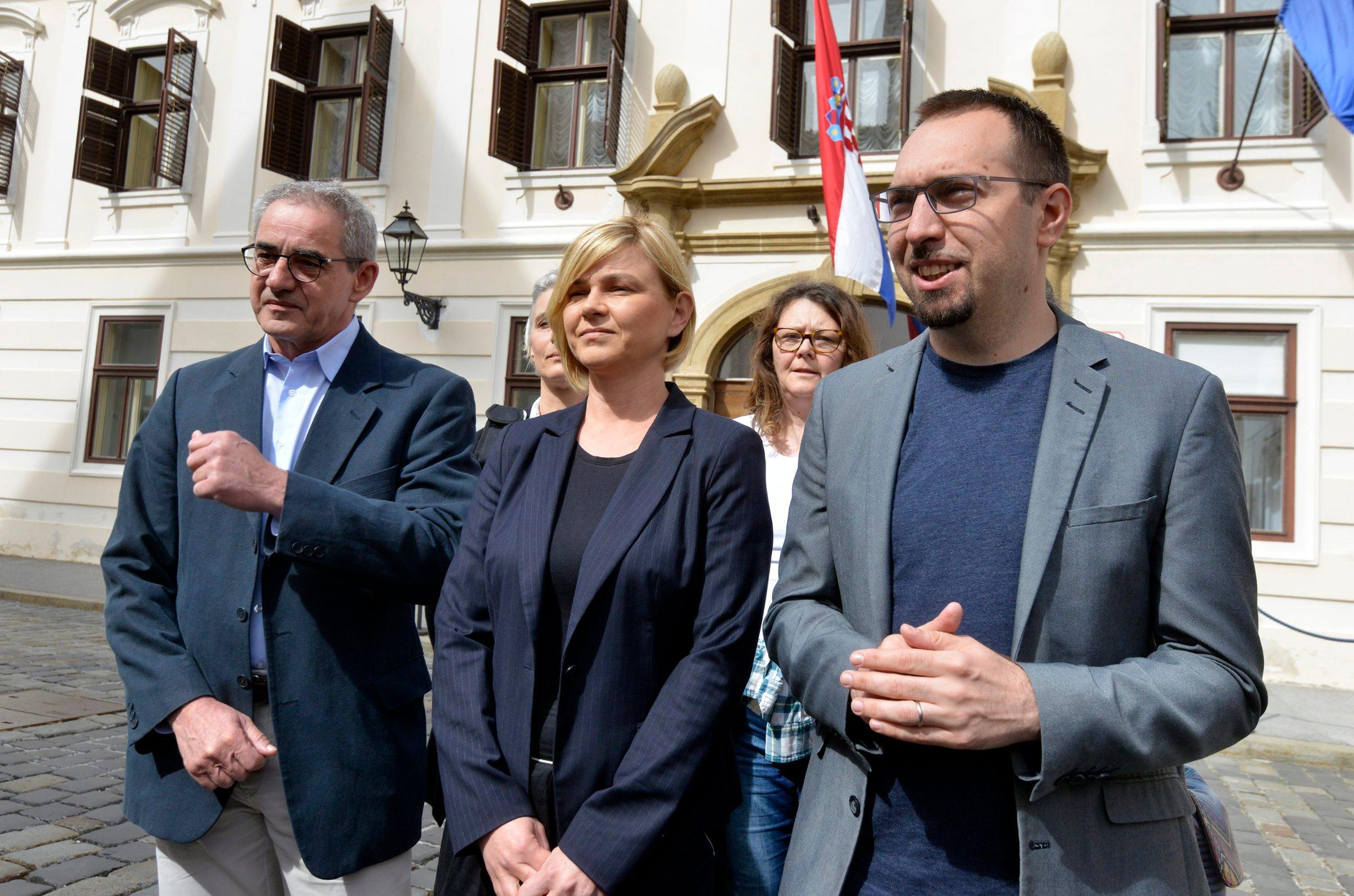 Damir Bakić, Sandra Benčić i Tomislav Tomašević iz političke platforme Možemo!