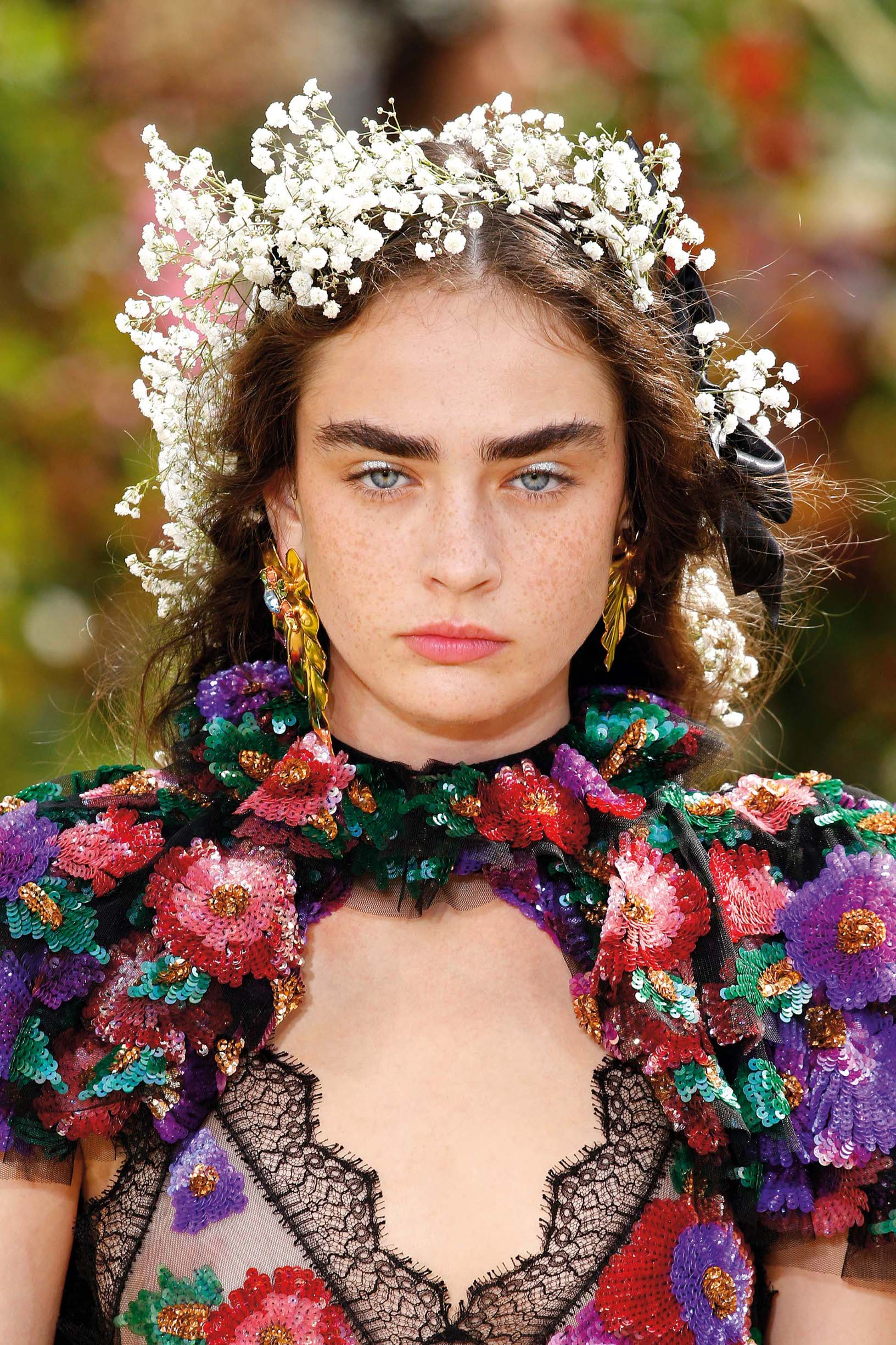 Beauty Detail during the Rodarte Haute Couture Fall/Winter 2017-2018 show as part of Haute Couture Paris Fashion Week on July 2, 2017 in Paris, France.