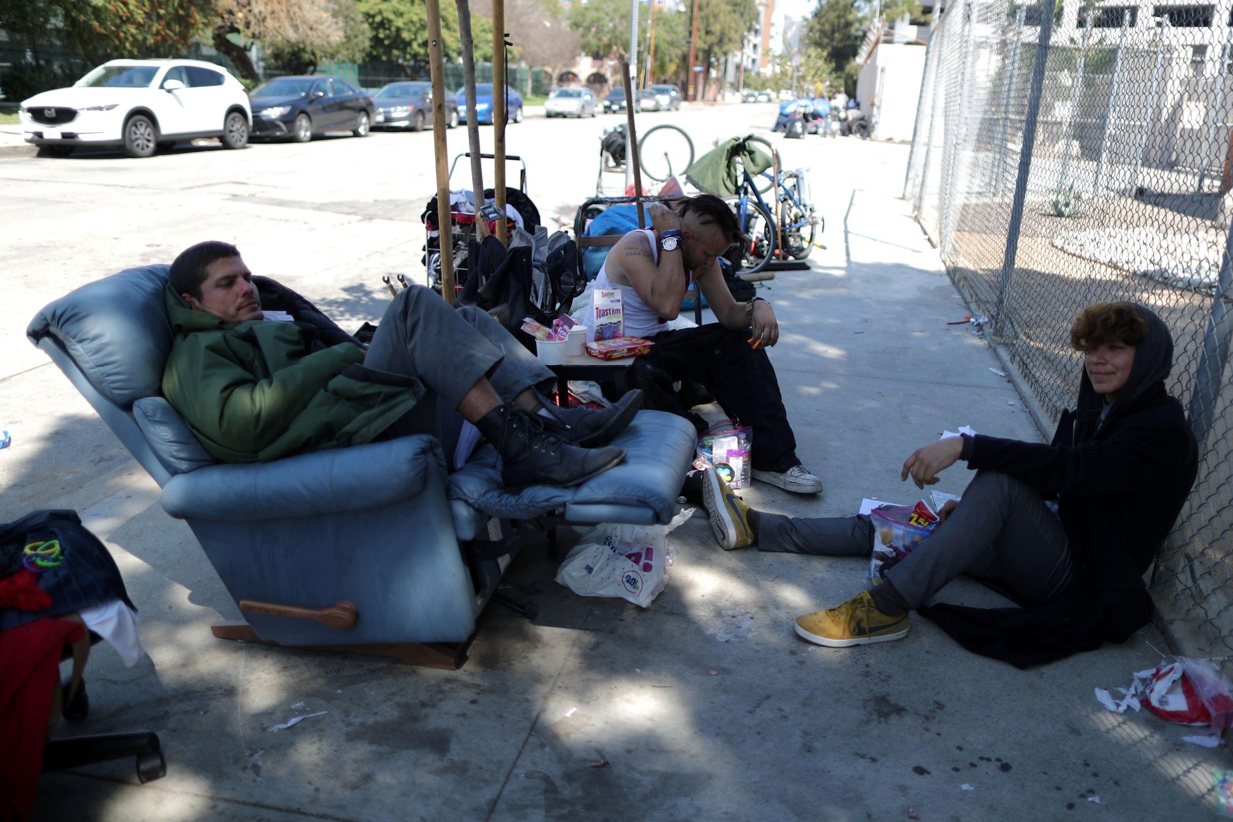 Beskućnici u Los Angelesu, ilustracija