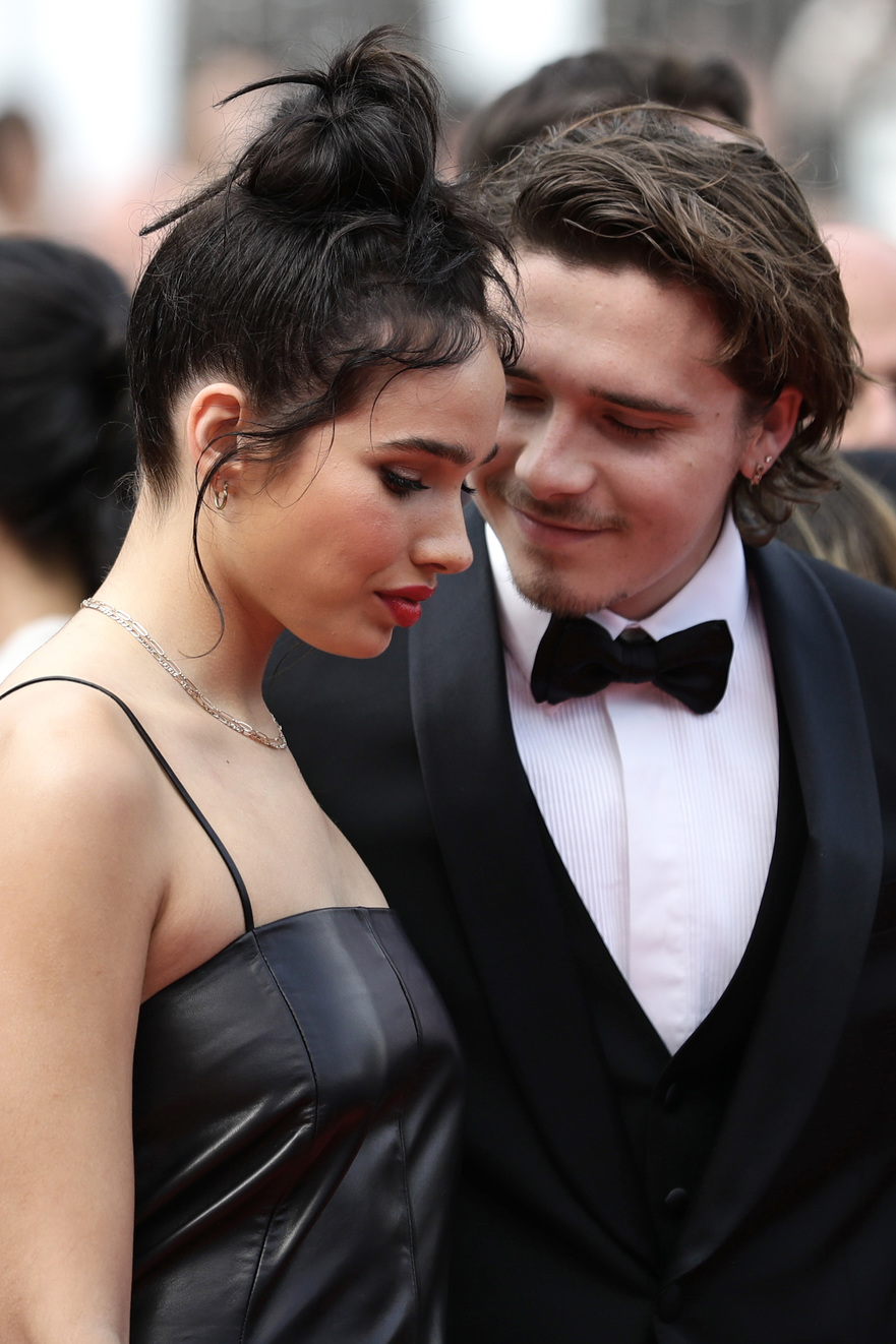 CANNES, FRANCE - MAY 21: Hana Cross and Brooklyn Beckham attends the screening of
