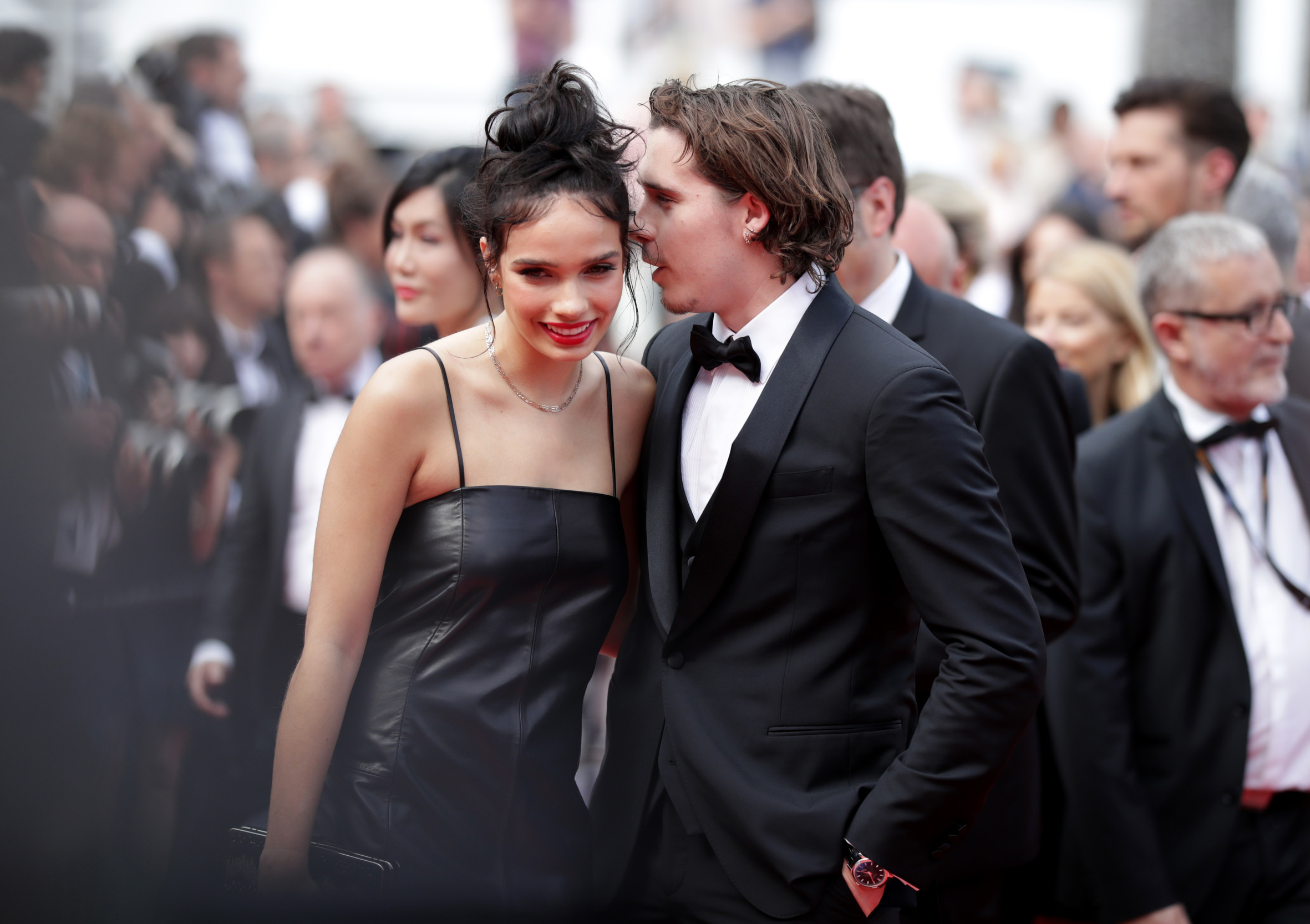 CANNES, FRANCE - MAY 21: Hana Cross and Brooklyn Beckham attend the screening of