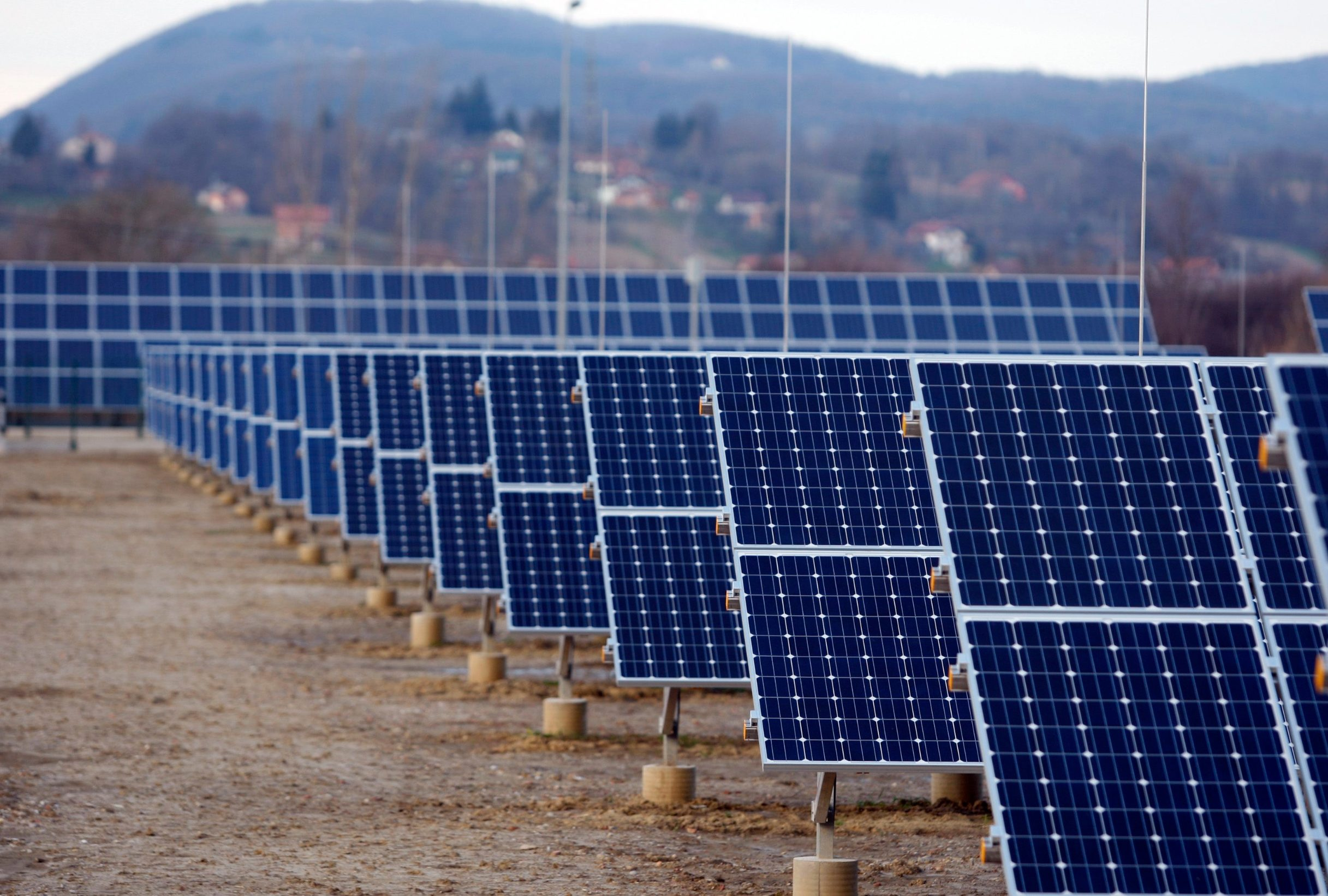 Solarna elektrana, ilustracija