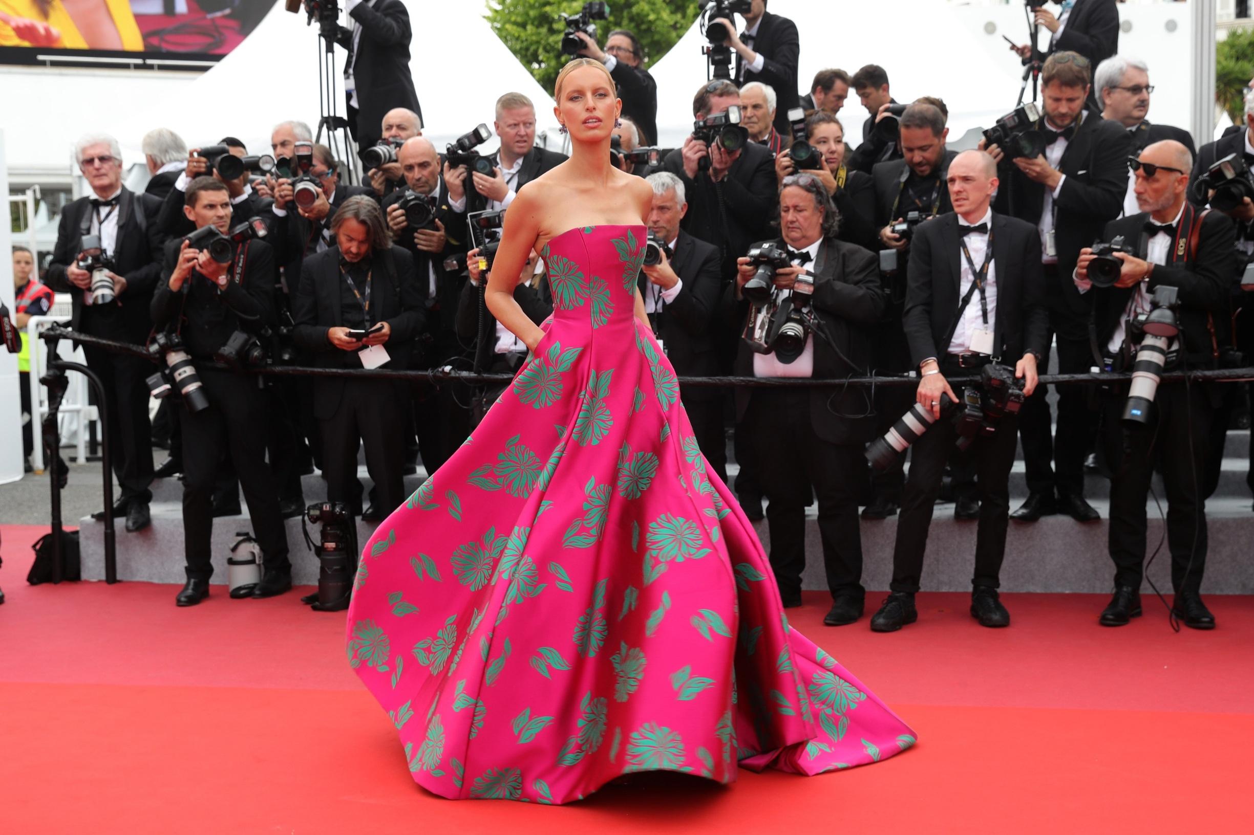 CANNES, FRANCE - MAY 21: Karolina Kurkova attends the screening of