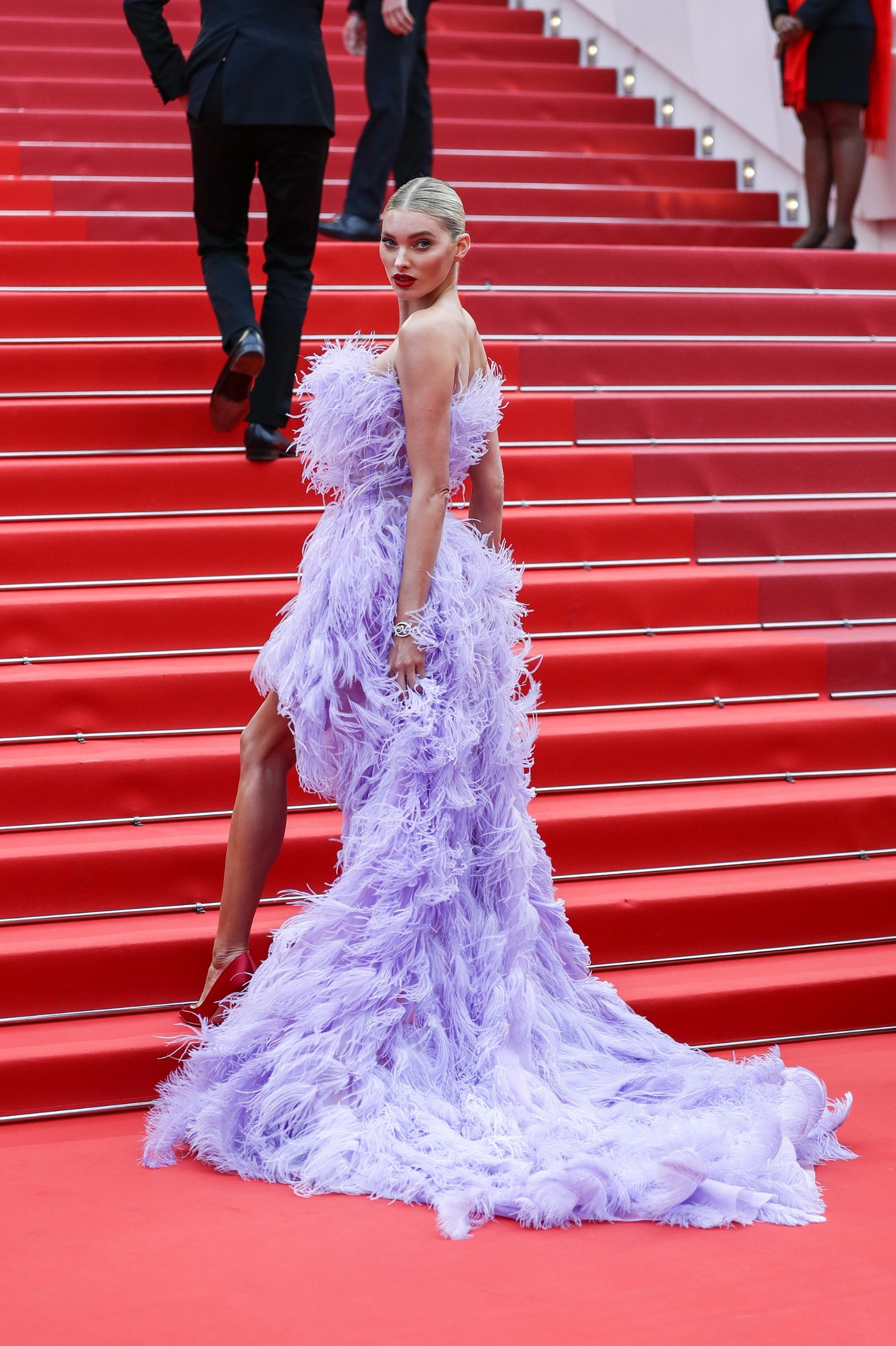 CANNES, FRANCE - MAY 24: Elsa Hosk attends the screening of