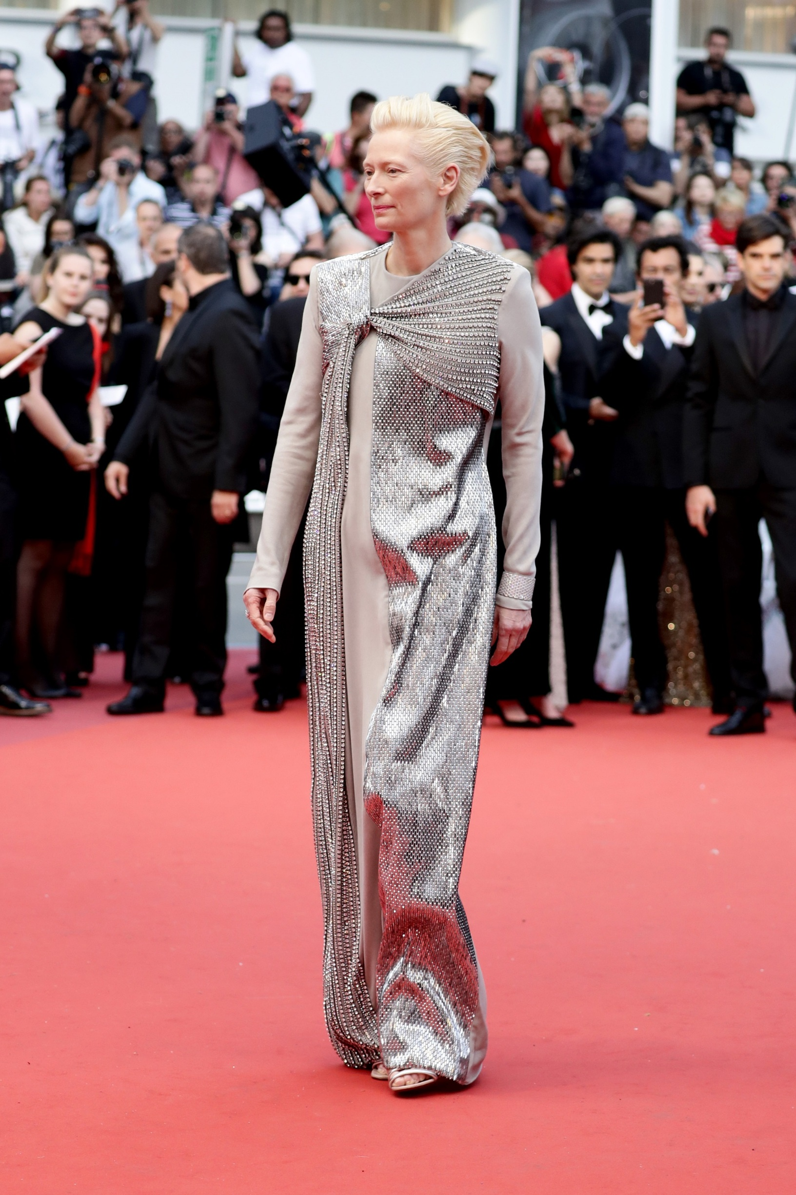 CANNES, FRANCE - MAY 14: Tilda Swintonattends the opening ceremony and screening of