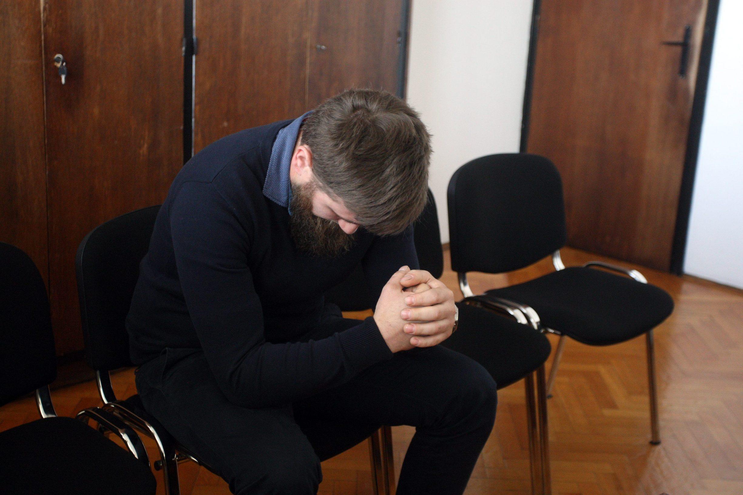 Varazdin, 220519. Na Zupanijskom sudu u Varazdinu traje sudjenje Marku Taradiju za kazneno djelo iz claka 90 Kaznenog zakona. Na fotografiji: Marko Taradi u sudnici. Foto: Zeljko Hajdinjak / CROPIX