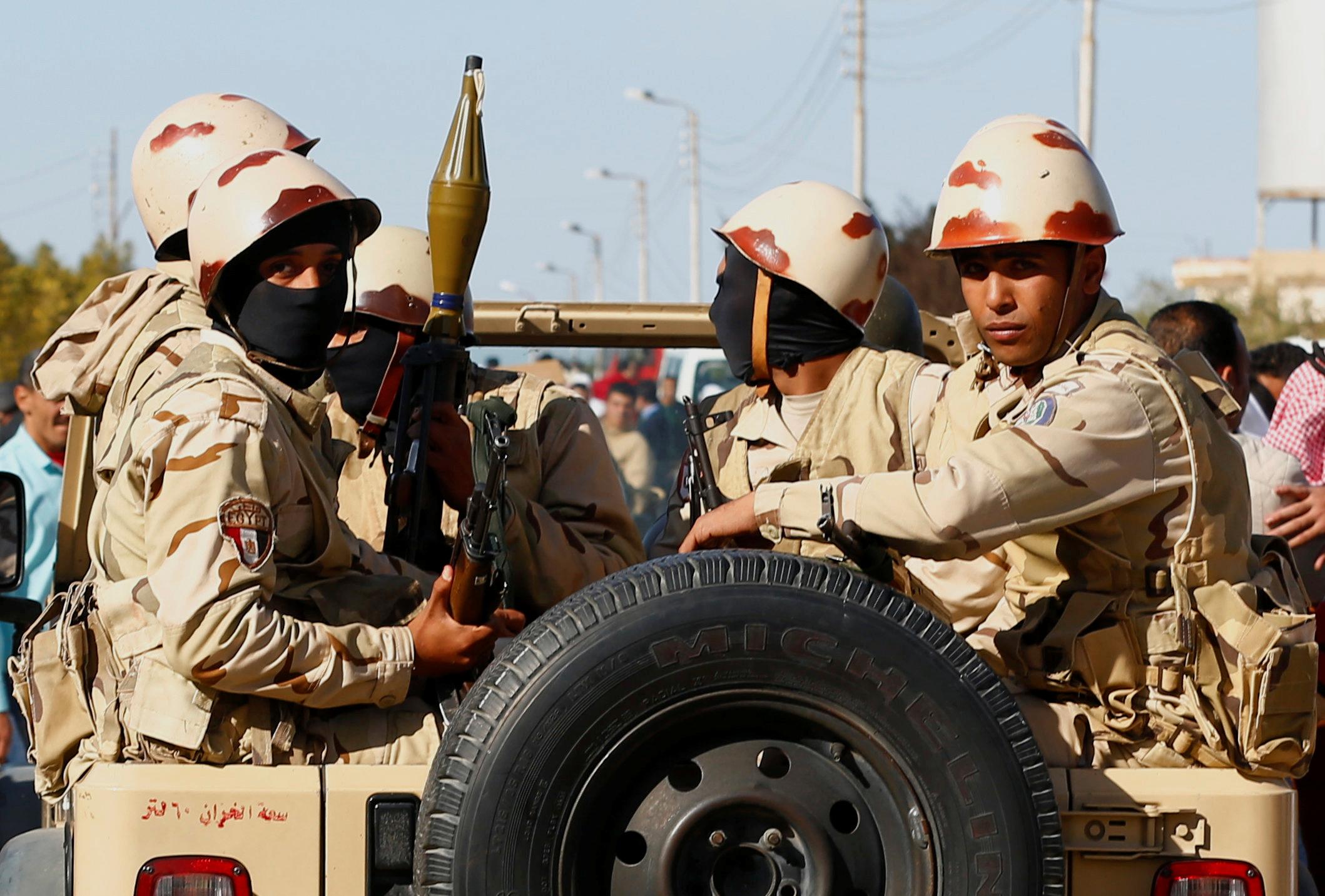 Ilustracija: Egipatske sigurnosne snage na pobunjenom sjeveru Sinajskog poluotoka