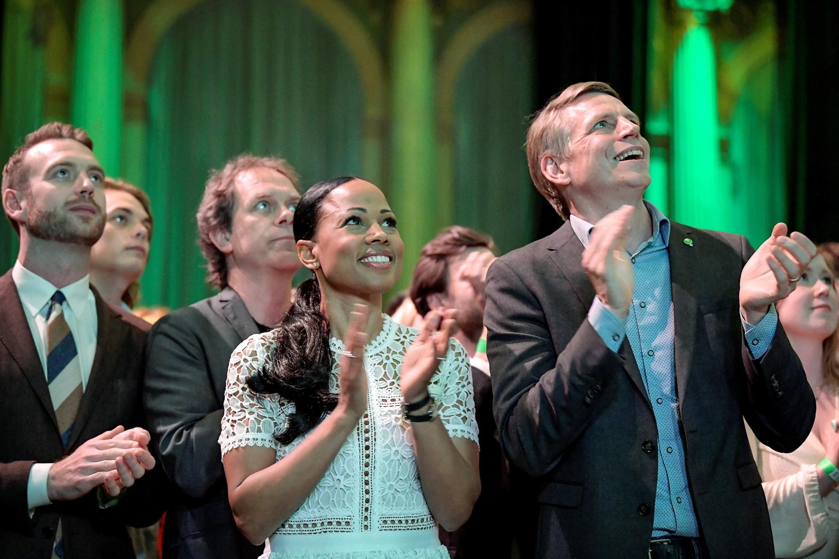 Švedska Zelena stranka tijekom objave rezultata izbora za Europski parlament