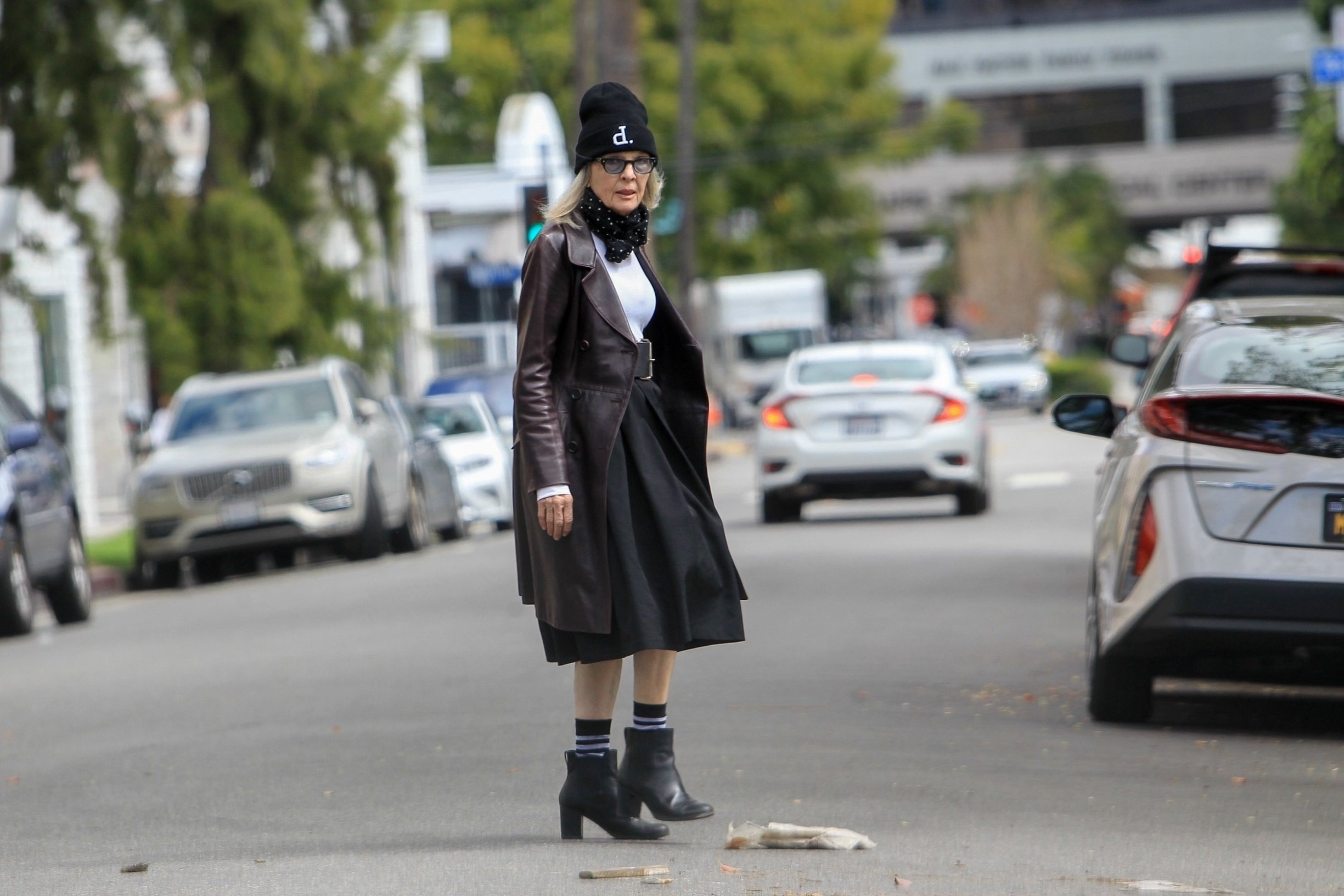 Beverly Hills, CA  - Diane Keaton displays her style running errands in Beverly Hills  Pictured: Diane Keaton  BACKGRID USA 4 MARCH 2019, Image: 417254390, License: Rights-managed, Restrictions: , Model Release: no, Credit line: Profimedia, Backgrid USA