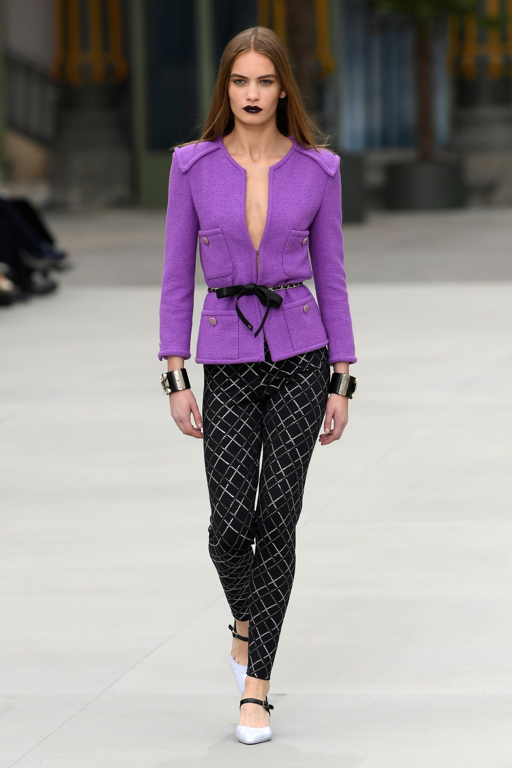 Model on the catwalk Chanel Cruise 2020 show, Runway, Paris, France - 03 May 2019, Image: 430641599, License: Rights-managed, Restrictions: , Model Release: no, Credit line: Profimedia, TEMP Rex Features