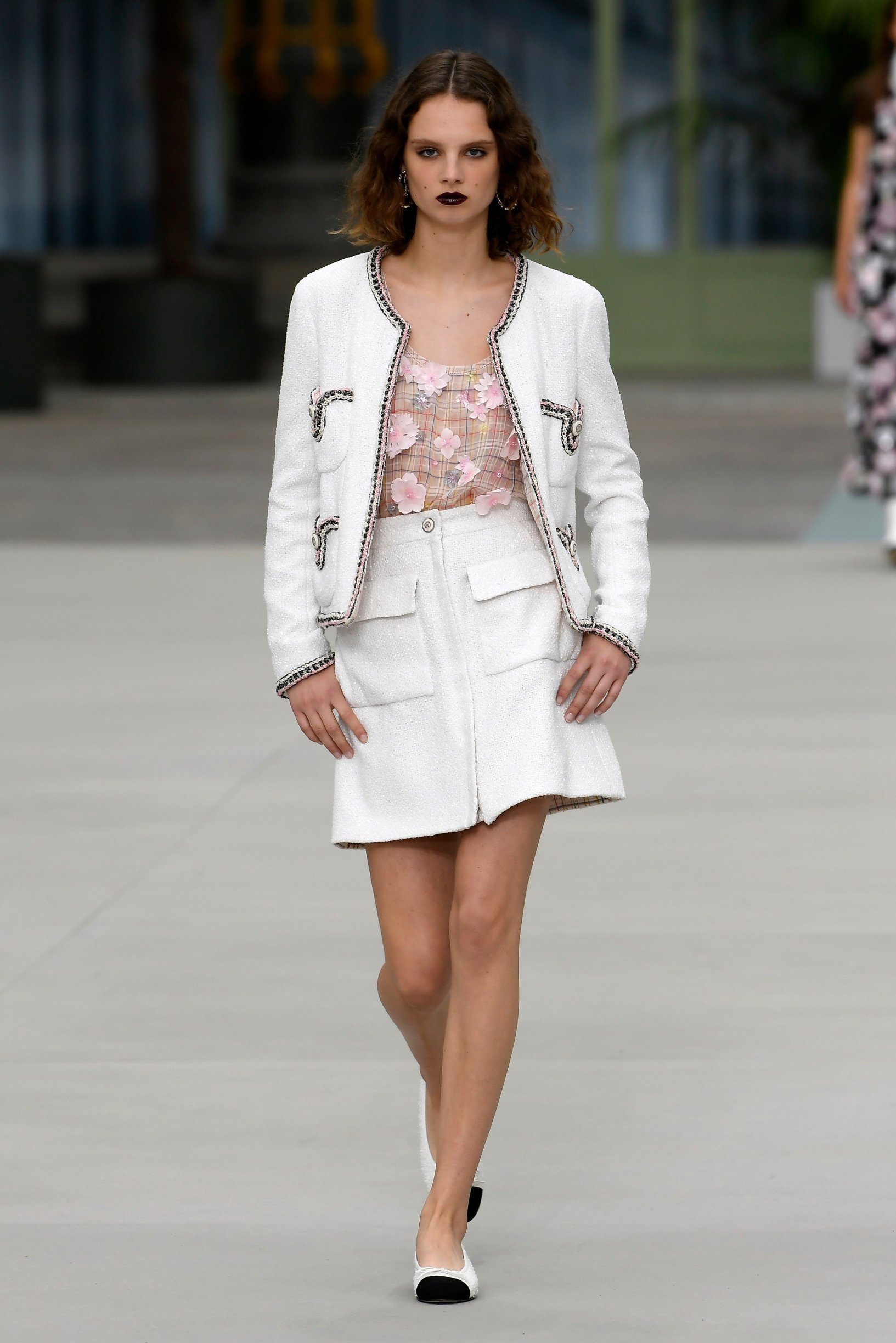 Model on the catwalk Chanel Cruise 2020 show, Runway, Paris, France - 03 May 2019, Image: 430644358, License: Rights-managed, Restrictions: , Model Release: no, Credit line: Profimedia, TEMP Rex Features