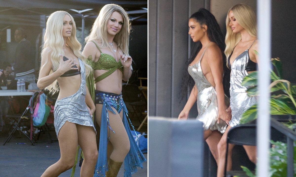 Paris i Derrick Barry; Paris i Kim Kardashian