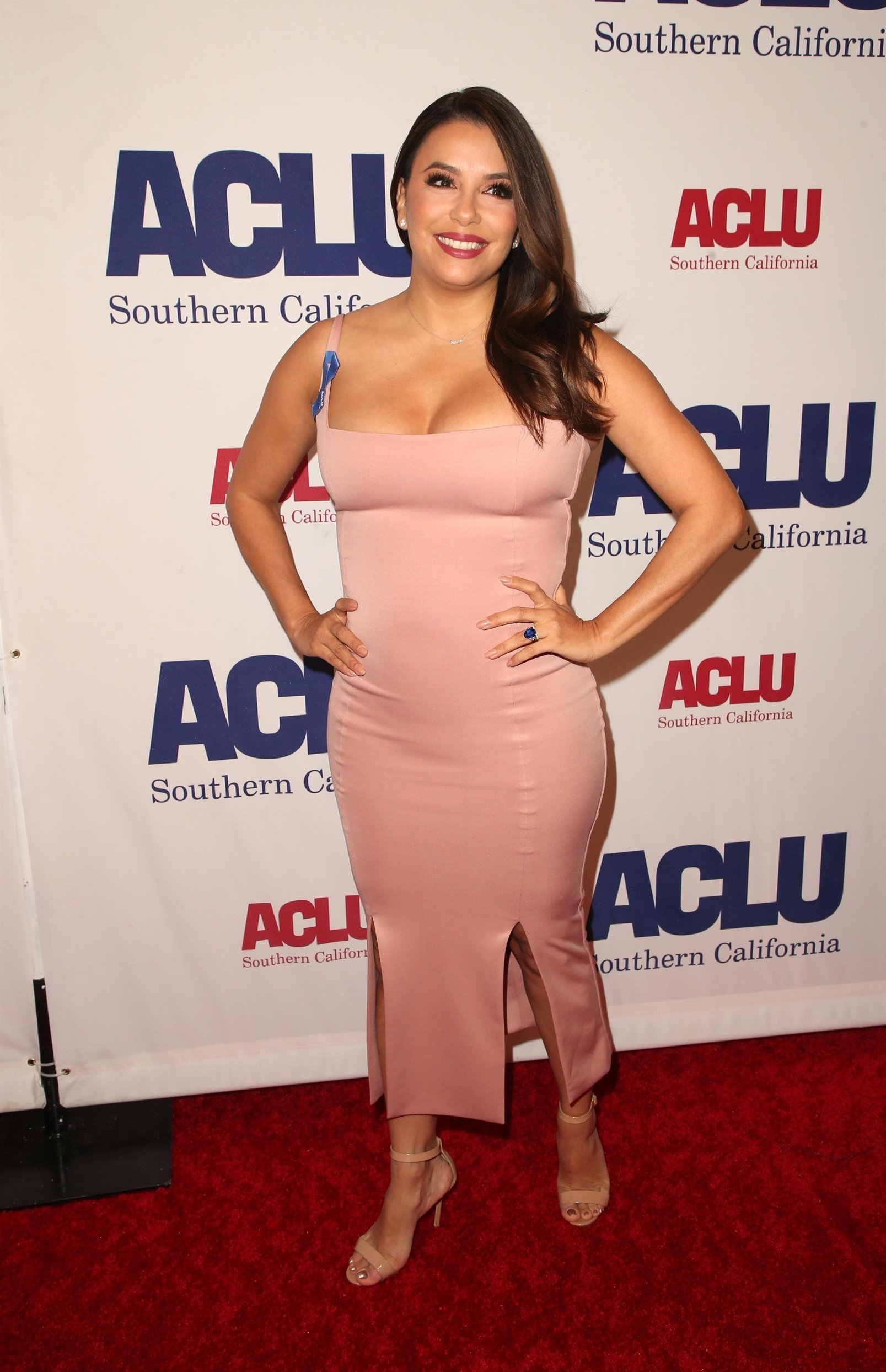 Beverly Hills, CA  - Guests pose at the ACLU of Southern California's annual ACLU Bill of Rights Dinner at The Beverly Wilshire Hotel in Beverly Hills.  Pictured: Eva Longoria  BACKGRID USA 11 NOVEMBER 2018, Image: 395513495, License: Rights-managed, Restrictions: , Model Release: no, Credit line: Profimedia, Backgrid USA