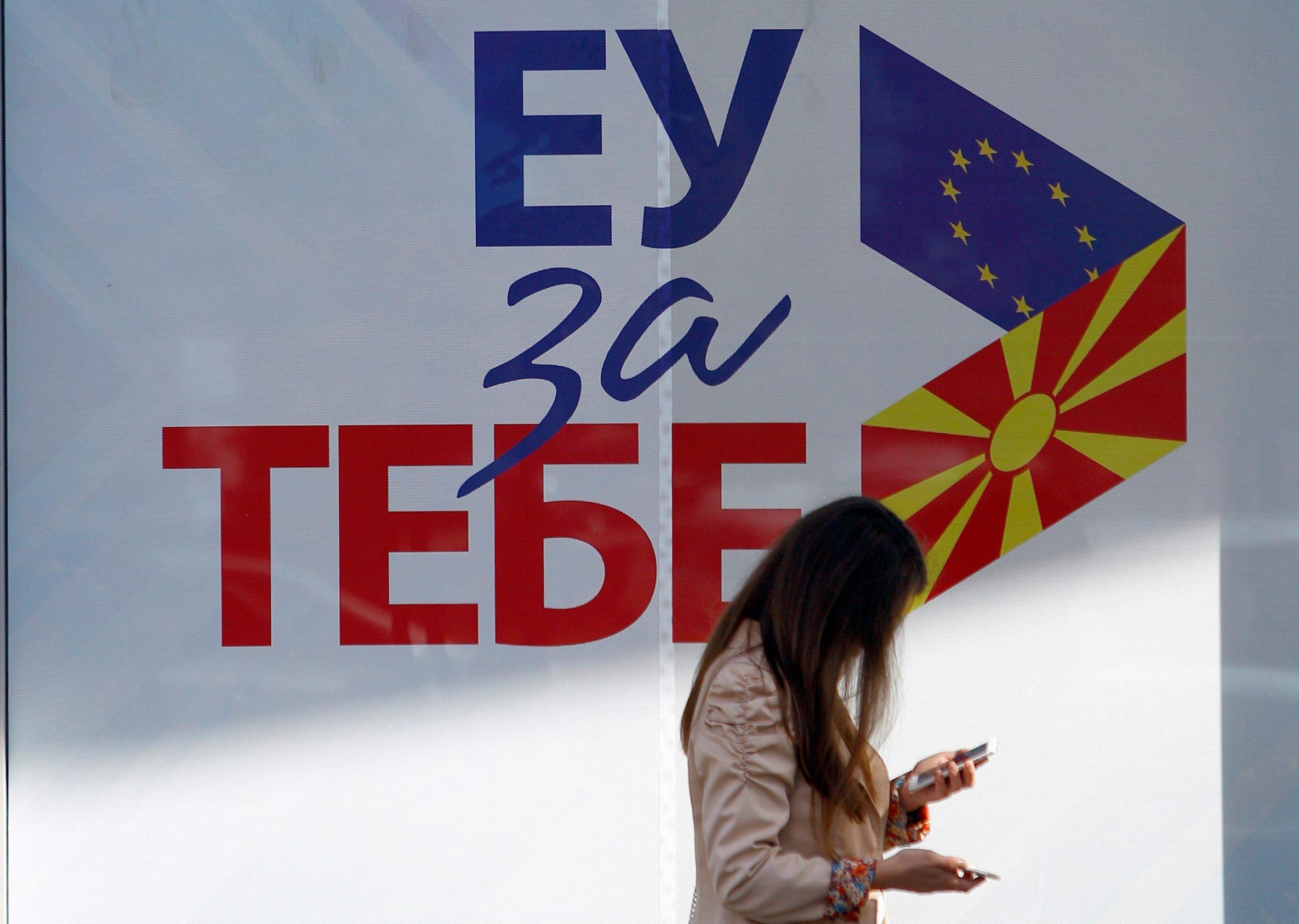 Poster 'EU za tebe' na referendumu u Makedoniji