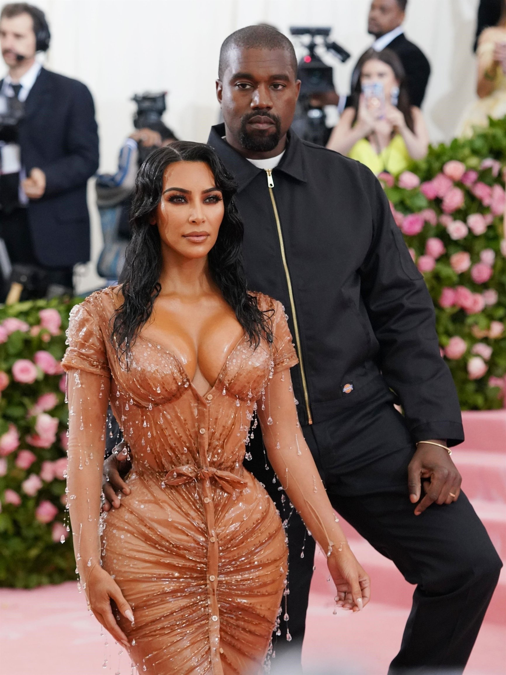 New York, NY  - Celebrities strike a pose as they step out for the Met Gala in New York.  Pictured: Kim Kardashian, Kanye West    *UK Clients - Pictures Containing Children Please Pixelate Face Prior To Publication*, Image: 431343332, License: Rights-managed, Restrictions: , Model Release: no, Credit line: Profimedia, Backgrid USA
